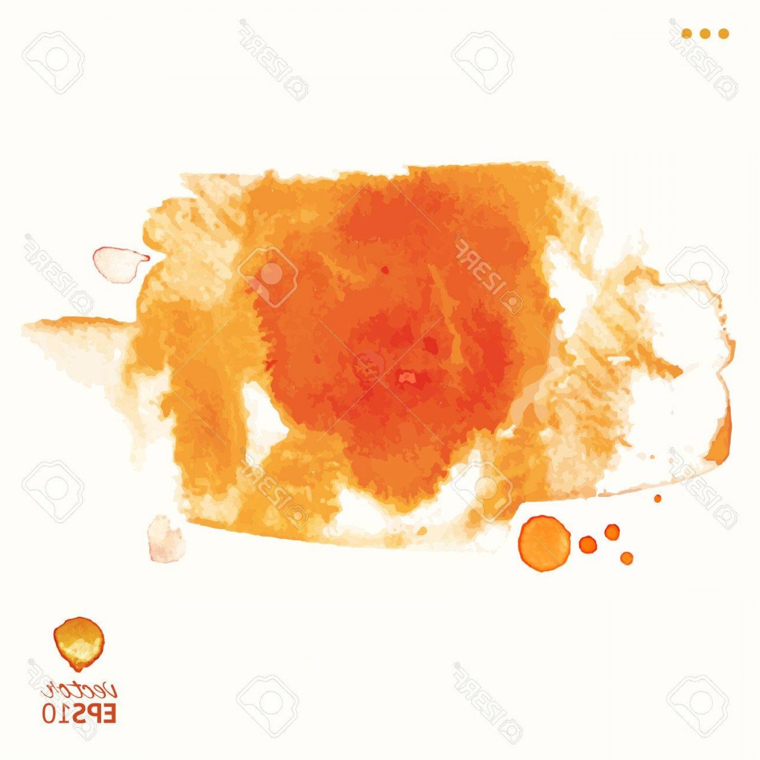 Orange Watercolor Vector Free: Photostock Vector Orange Watercolor Vector Splash Background Autumn Abstract Template Sunny Artistic Design Element