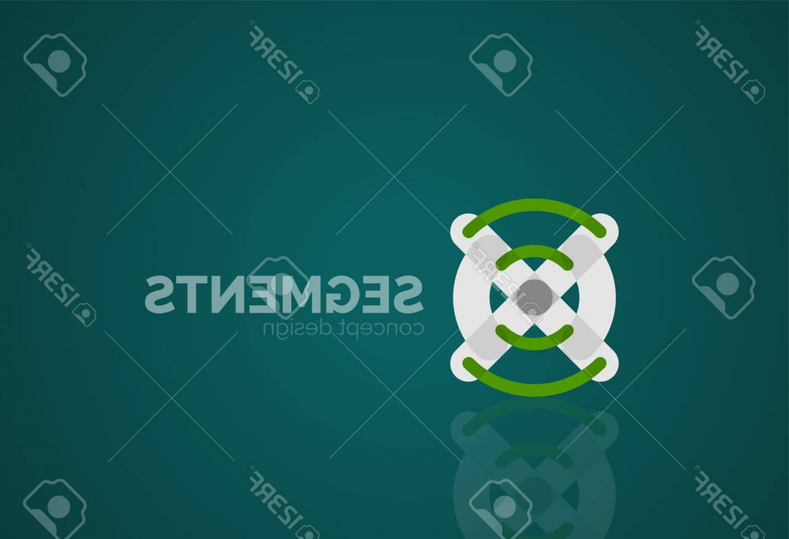 Abstract Football Vector Outline: Photostock Vector Outline Minimal Abstract Geometric Logo Linear Business Icon Made Of Line Segments Elements Vector I