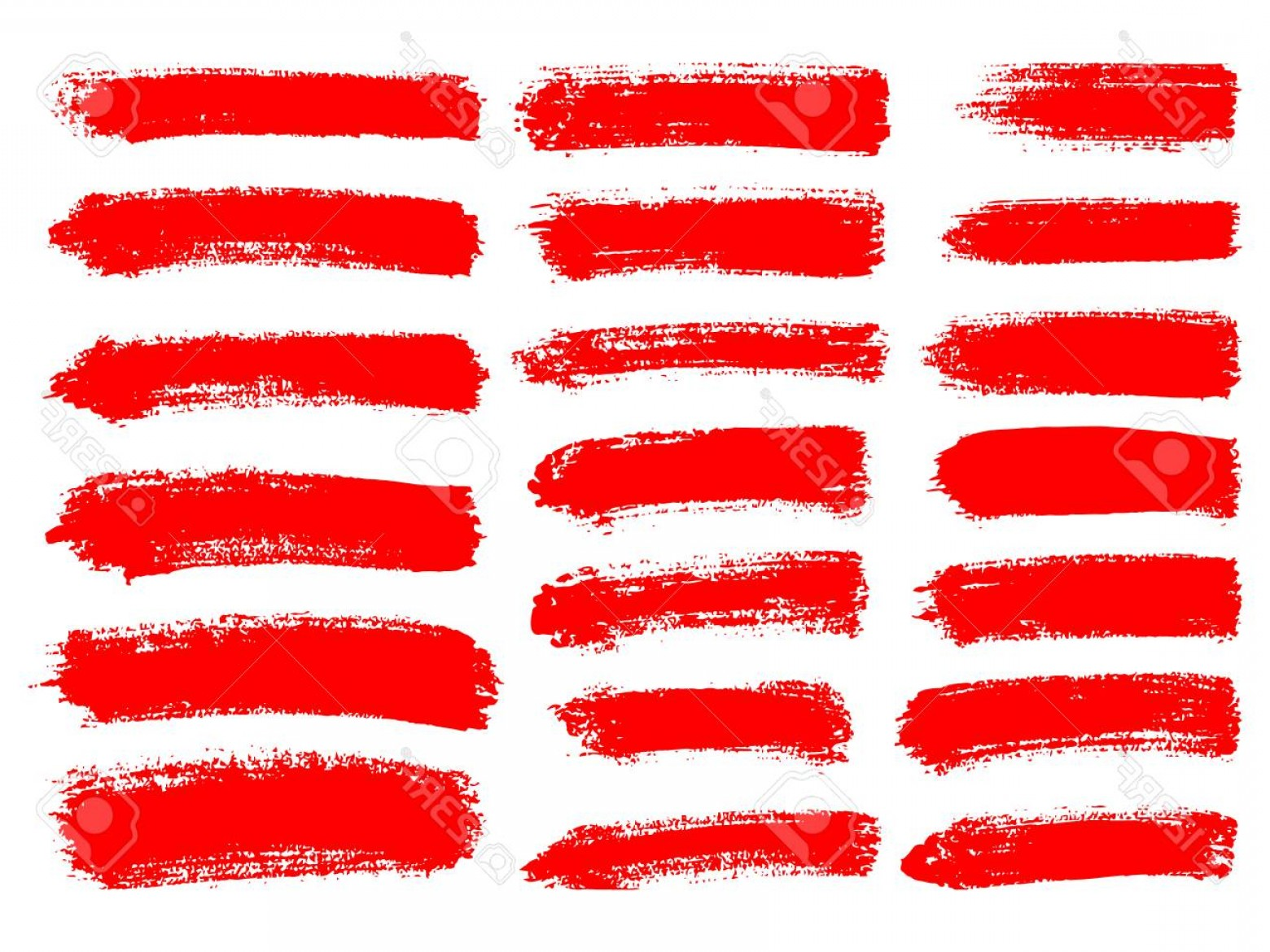 Grunge Stripes Vector: Photostock Vector Painted Grunge Stripes Set Red Labels Background Paint Texture Brush Strokes Vector Handmade Design