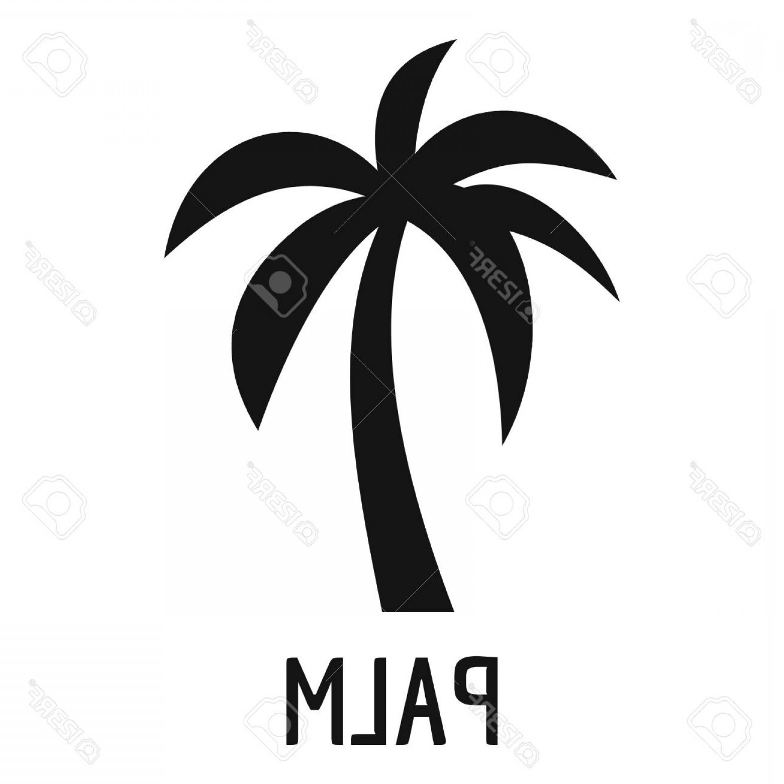 Simple Palm Tree Vector: Photostock Vector Palm Tree Icon Simple Illustration Of Palm Tree Vector Icon For Web