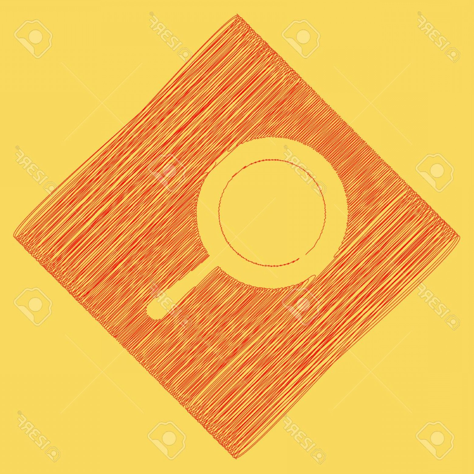 Subtracting Vectors BA: Photostock Vector Pan Sign Vector Red Scribble Icon Obtained As A Result Of Subtraction Rhomb And Path Royal Yellow Ba