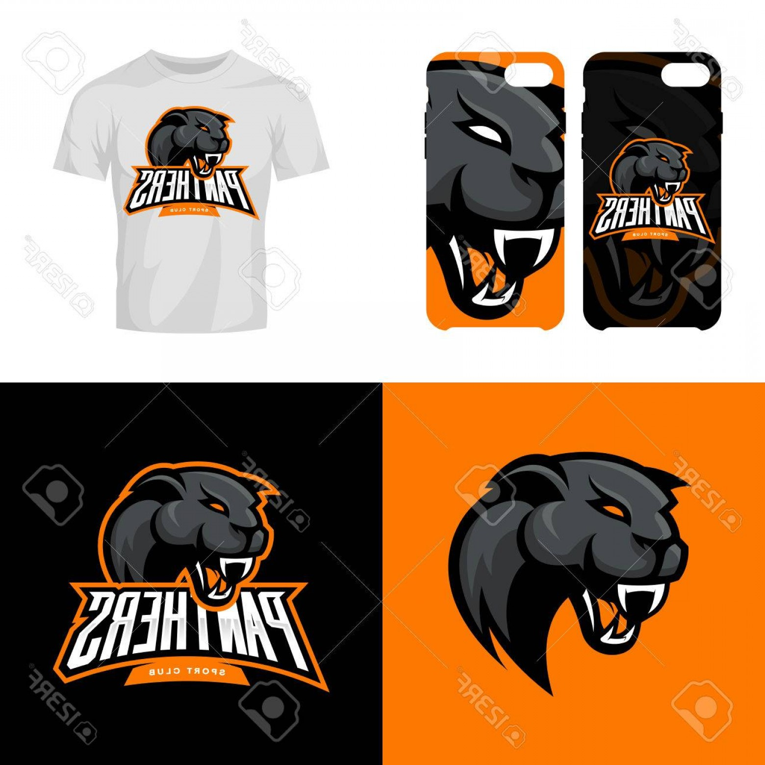 Vector Panther Football: Photostock Vector Panther Head Sport Club Isolated Vector Logo Concept Modern Professional Team Badge Mascot Design Pr