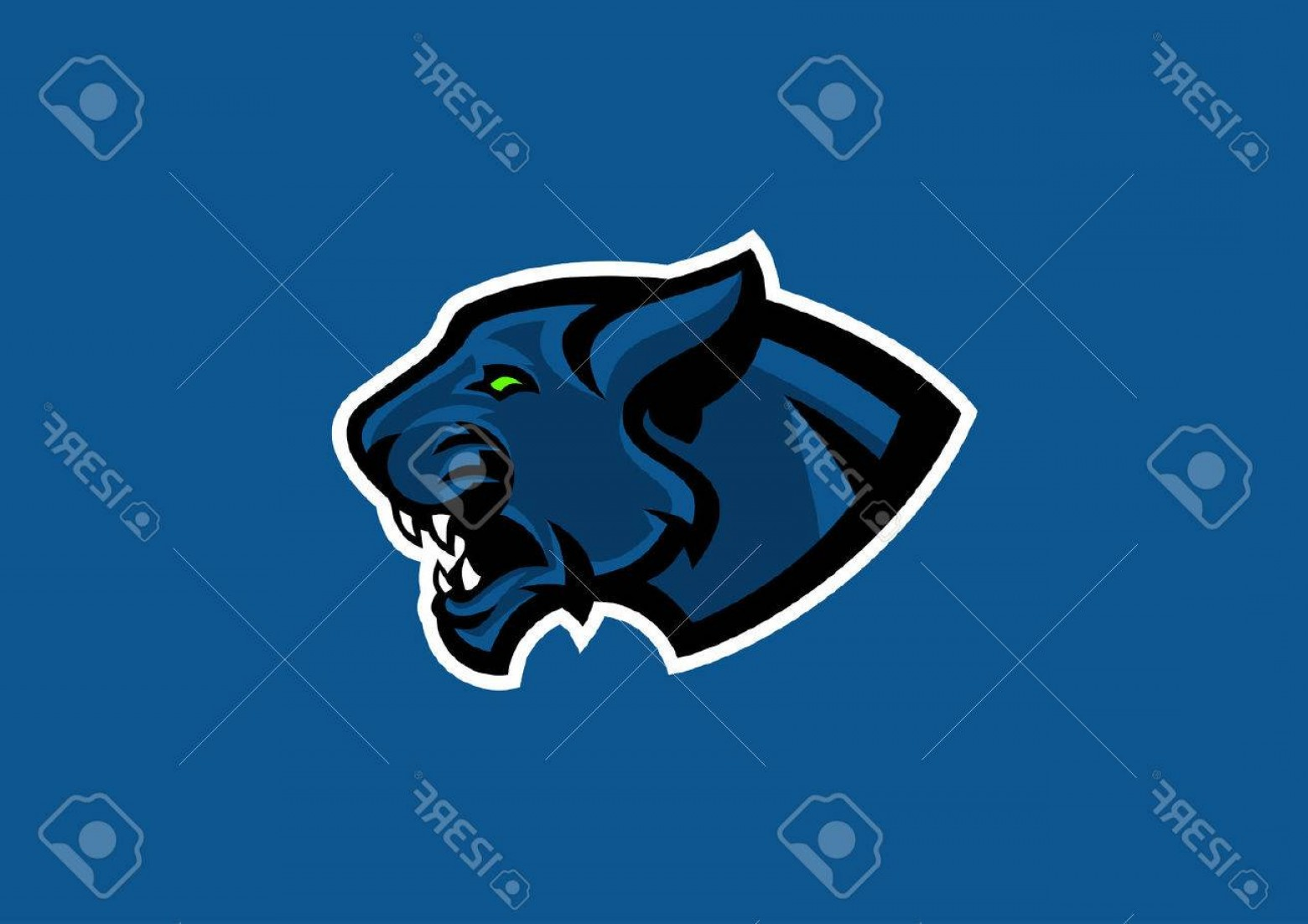 Panther Mascot Vector Sports: Photostock Vector Panther Head Sport Mascot