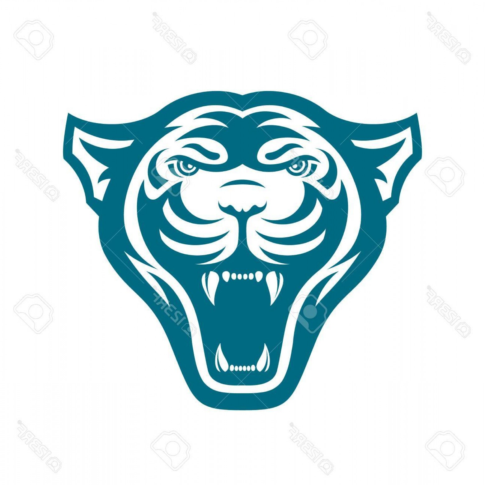 Vector Panther Football: Photostock Vector Panthers Head Logo For Sport Club Or Team Animal Mascot Logotype Template Vector Illustration Flat S