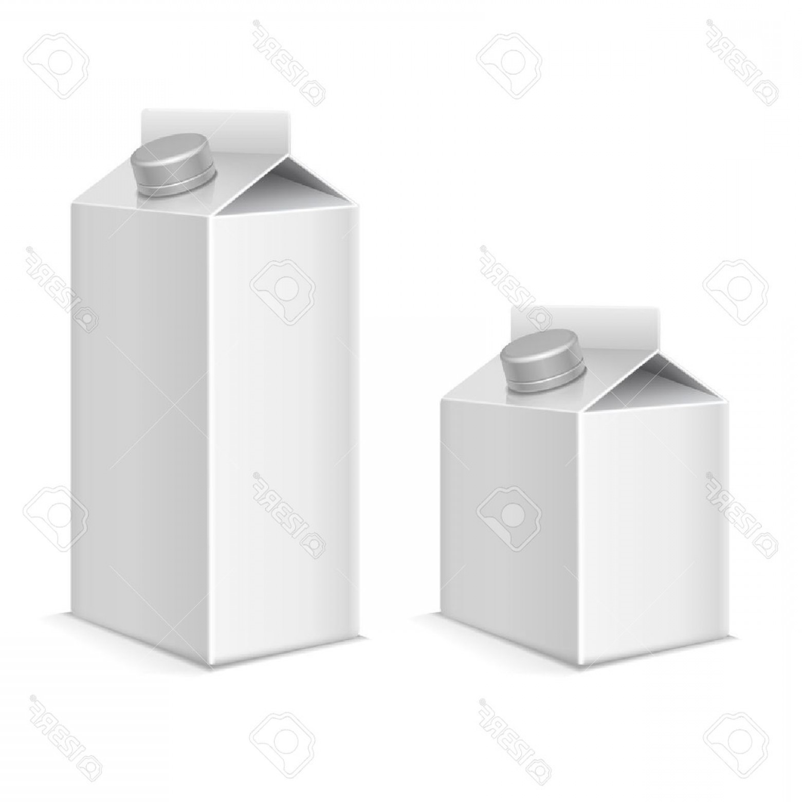 Vector Milk Container: Photostock Vector Paper Milk And Juice Product Tetra Pack Containers Vector Mockups Set Package Paper For Beverage Mod