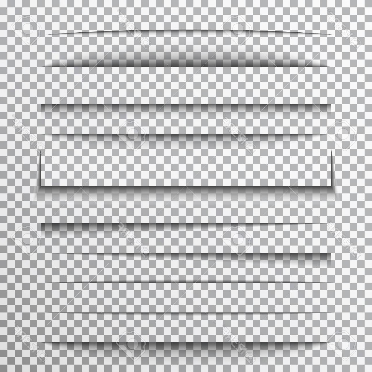 Vector Line Dividers Transparent Backgrounds: Photostock Vector Paper Shadows Set On Transparent Background Page Divider With Shadows Realistic Paper Shadow Line Ef