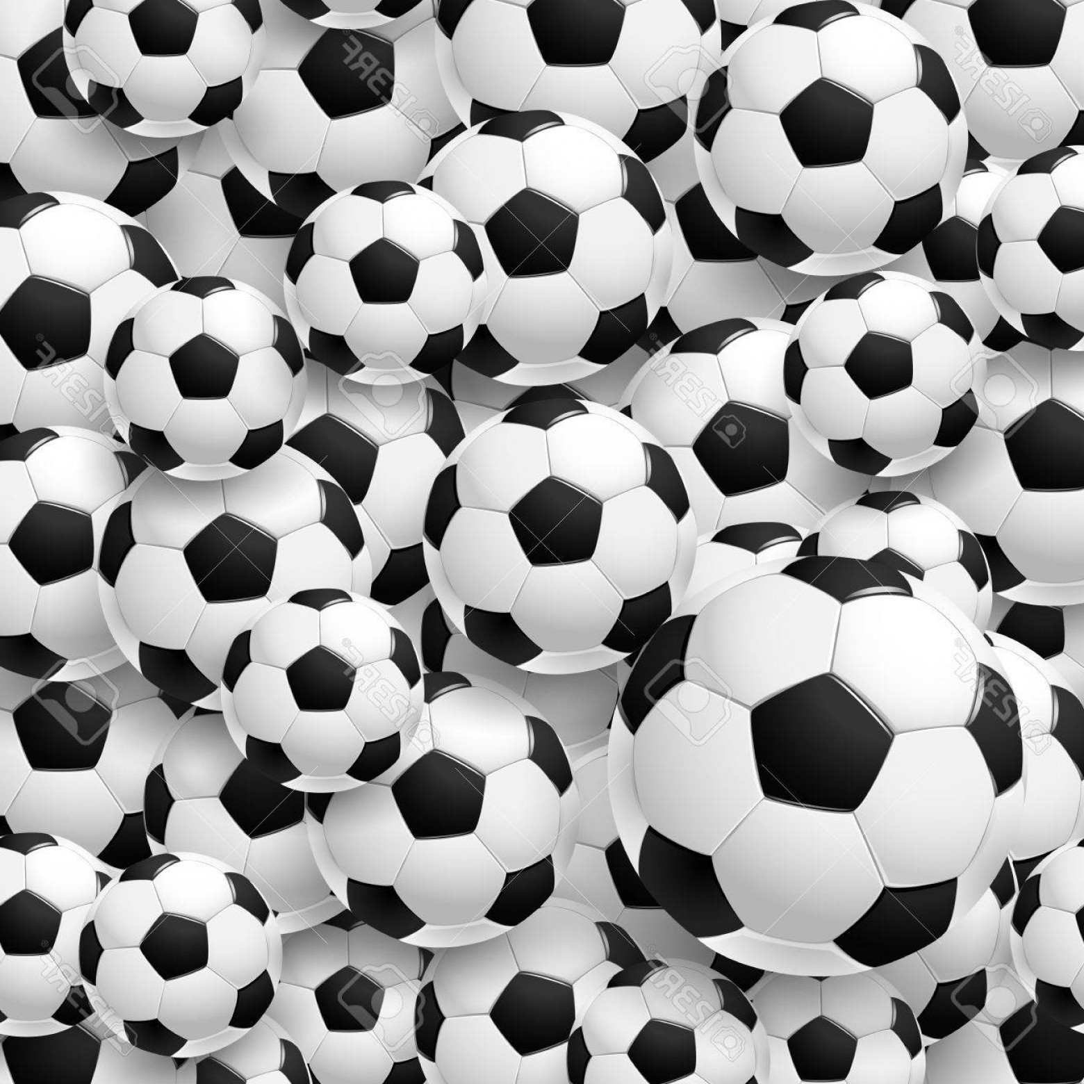 Vector Soccer Ball Pattern: Photostock Vector Pattern Made Of Football Soccer Ball Vector Illustration