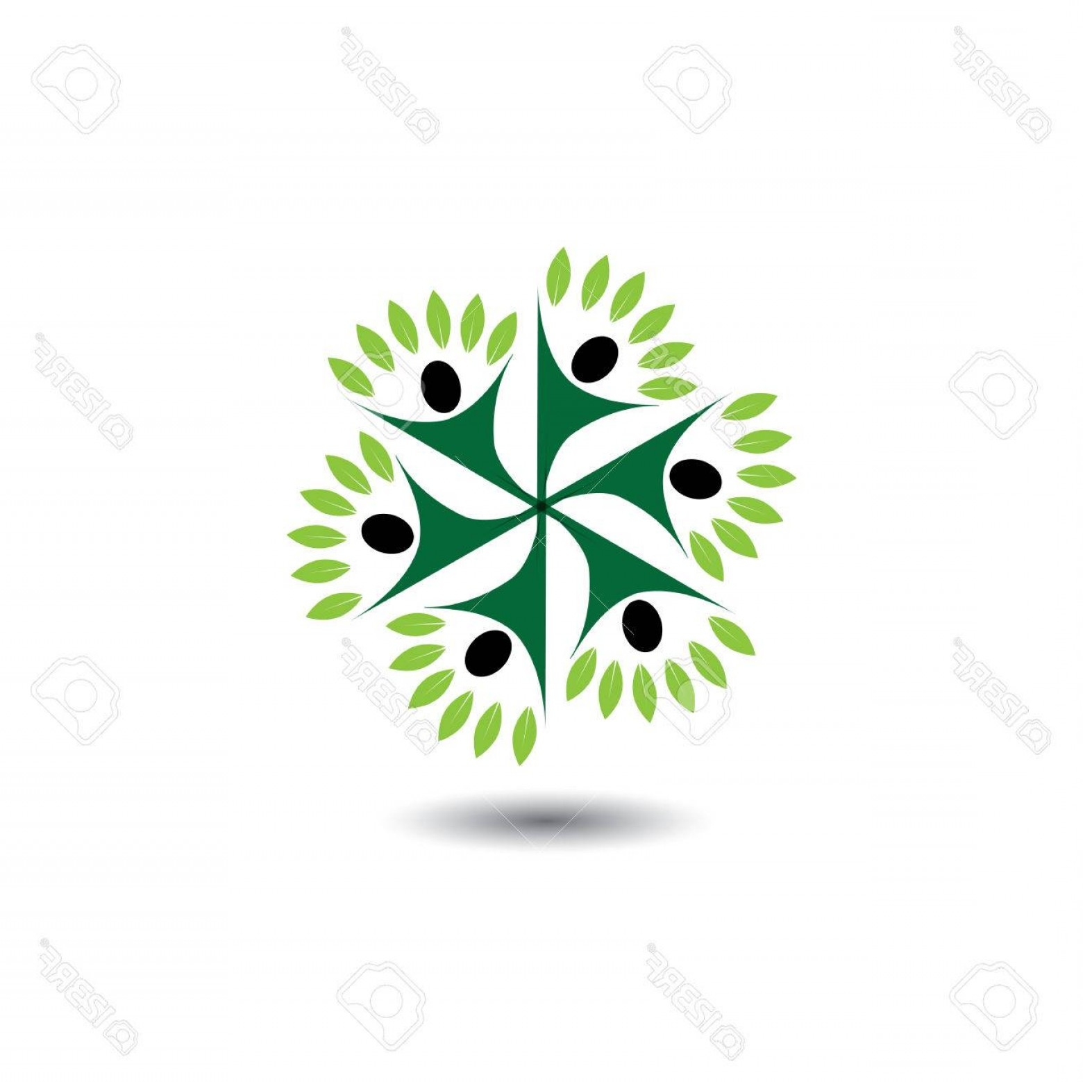 Growth Vector People: Photostock Vector People Nature Balance Circle Eco Lifestyle Concept Vector Icon This Graphic Also Represents Harmony