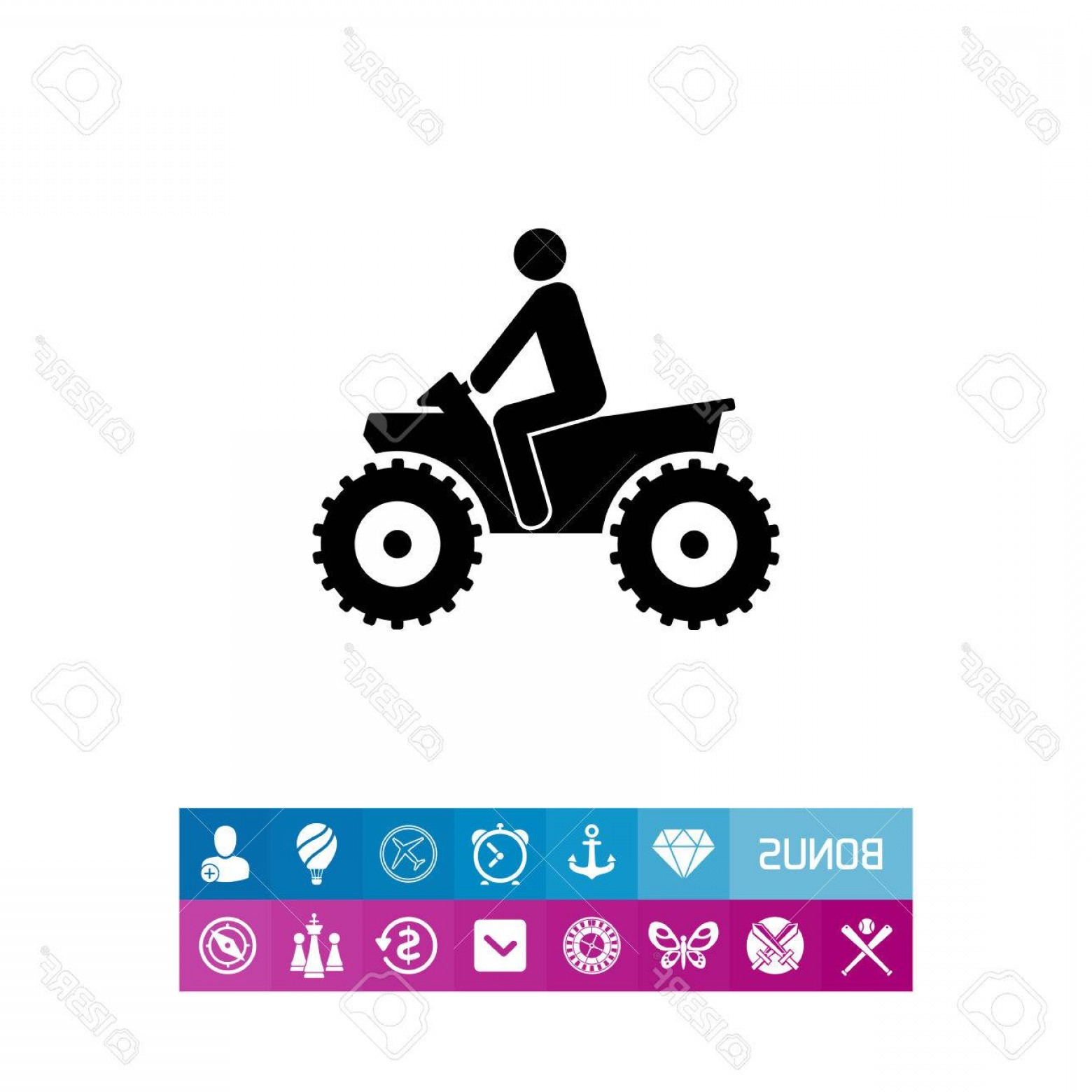 ATV Rider Vector: Photostock Vector Person Riding Quad Bike Atv Male Silhouette Four Wheeler Transport Concept Can Be Used For Transport