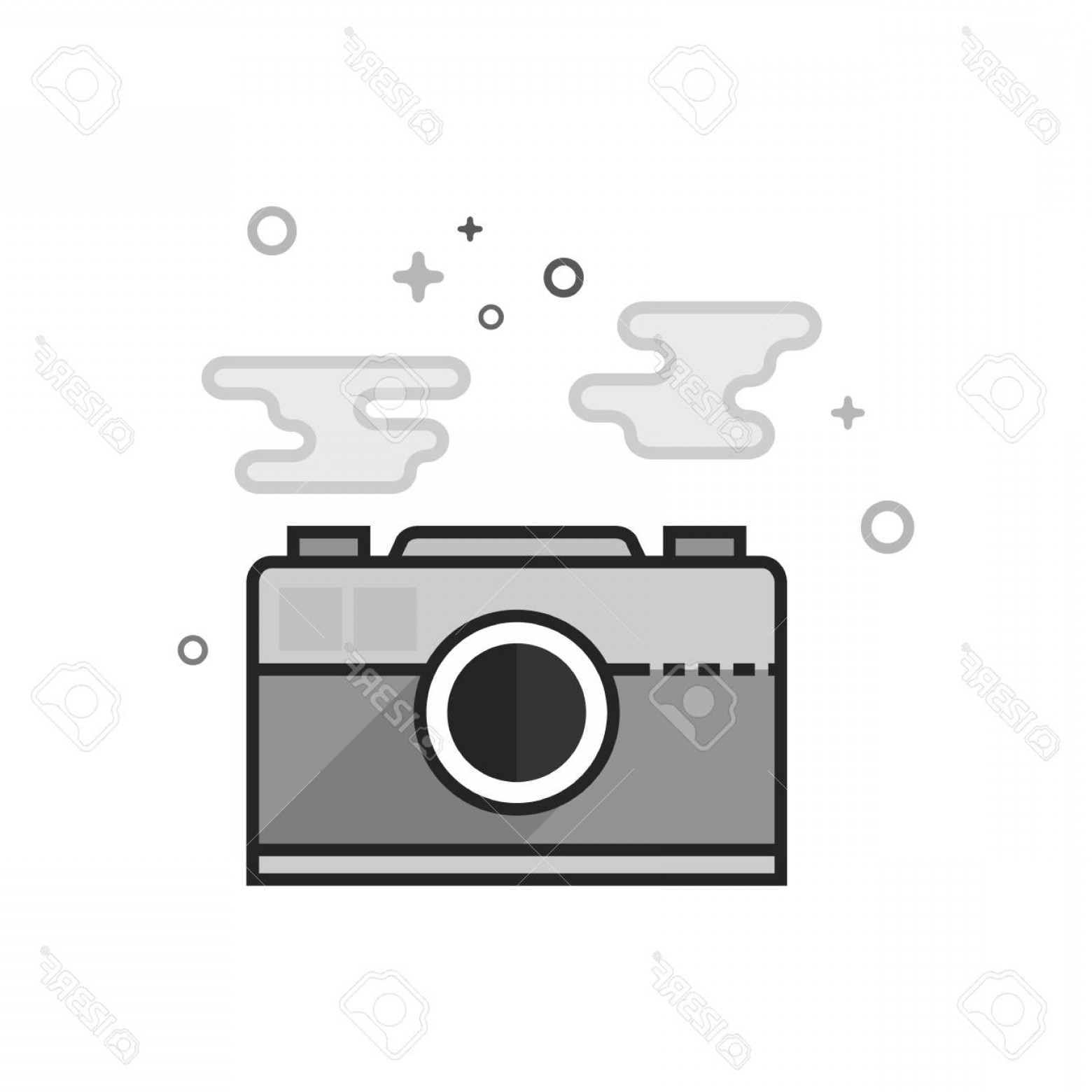 File Formats Vector Artwork: Photostock Vector Picture File Format Icon In Flat Outlined Grayscale Style Vector Illustration