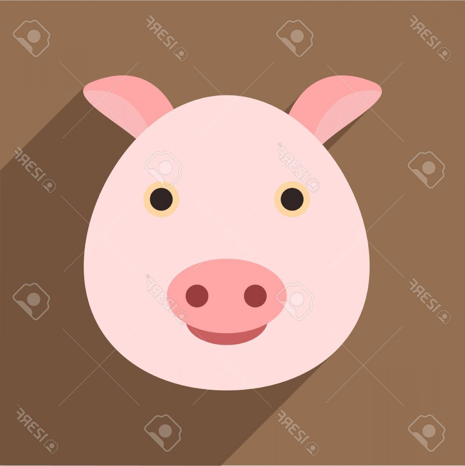 Vector Pig Nose: Photostock Vector Pig Icon Flat Illustration Of Pig Vector Icon For Web