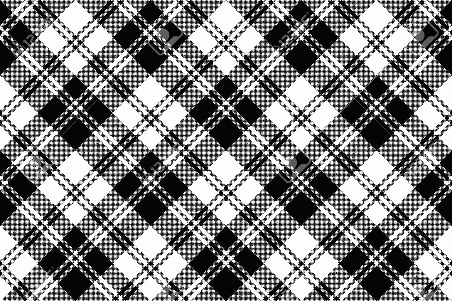 Plaid Vector: Photostock Vector Plaid Black White Tartan Classic Seamless Pattern Vector Illustration