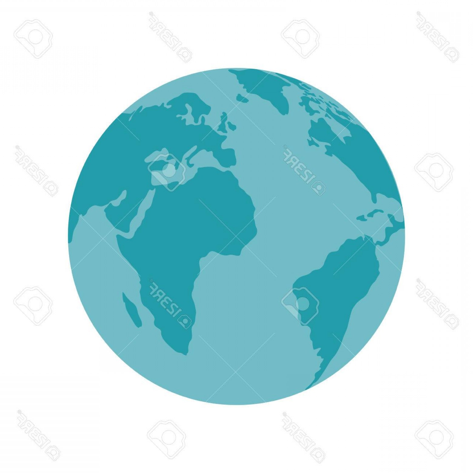Vector Globe Countries: Photostock Vector Planet Earth Global Globe Countries Continent Ocean Geography Vector Illustration