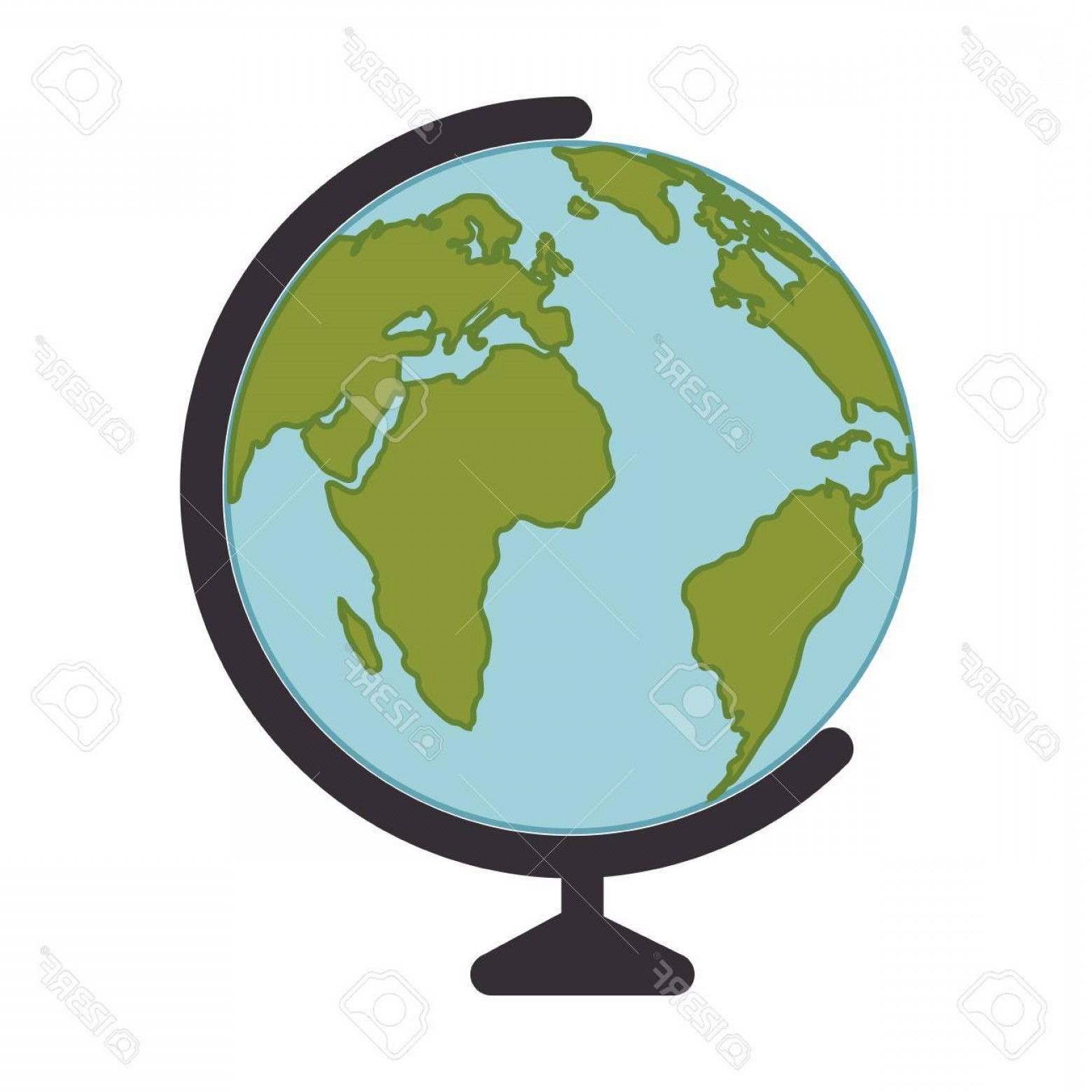 Vector Globe Countries: Photostock Vector Planet Earth Global Globe Countries Education Continent Ocean Geography Vector Illustration
