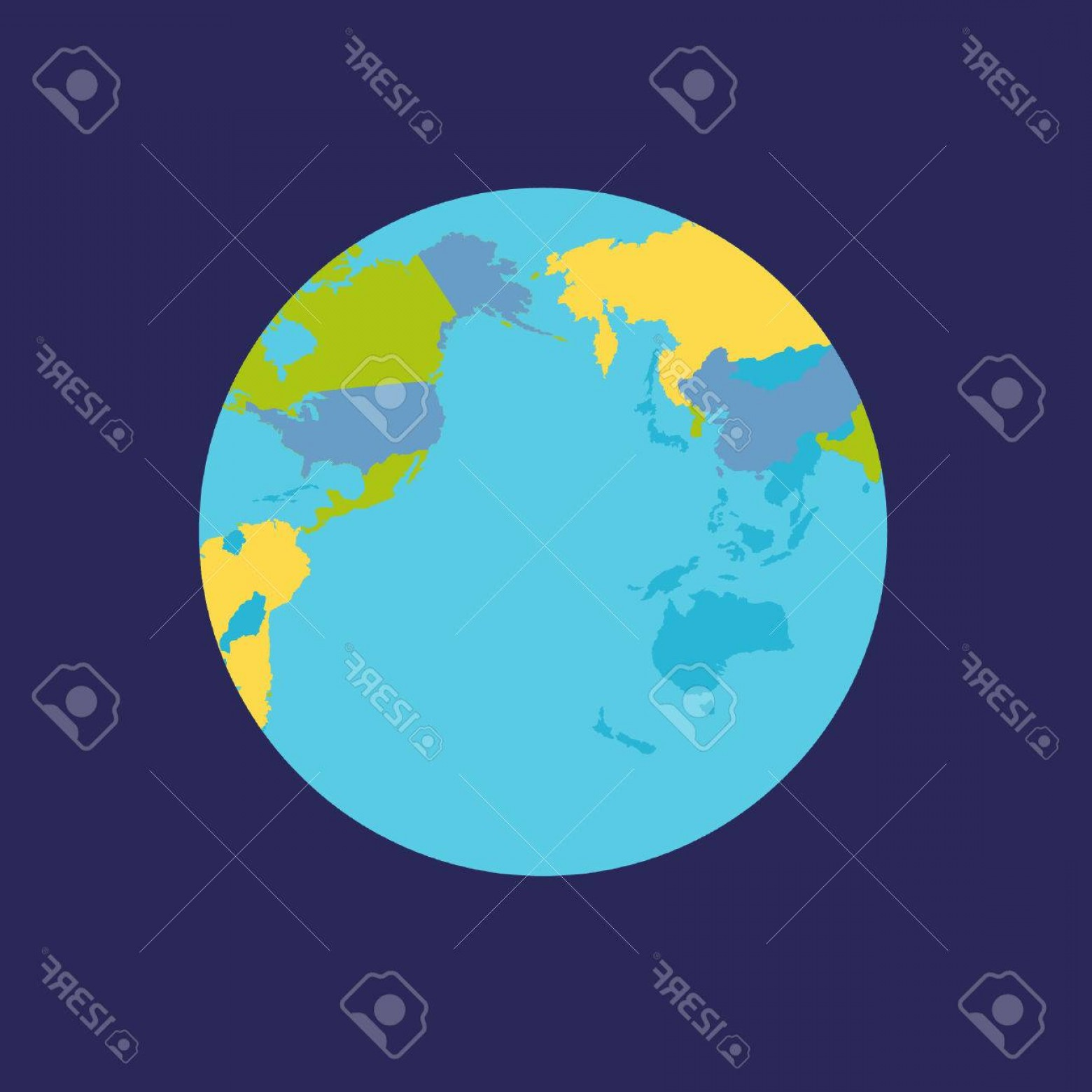 Vector Globe Countries: Photostock Vector Planet Earth Illustration World Globe With Political Map Countries Silhouettes On Planet Surface Glo