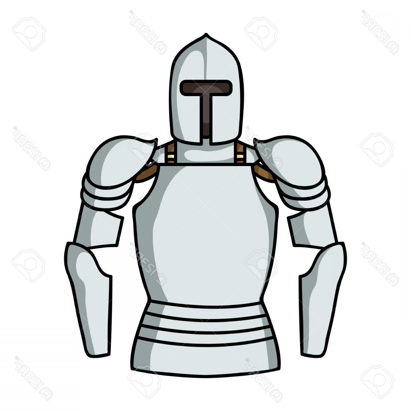 Boba Fett Vector Black And White: Photostock Vector Plate Armor Icon In Cartoon Style Isolated On White Background Museum Symbol Vector Illustration
