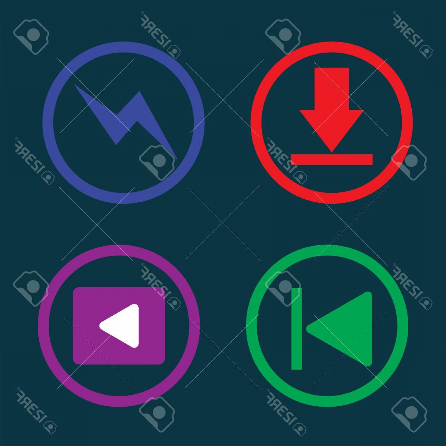 Downloadable Vector Cross: Photostock Vector Play Music Downloading Icon Button Illustration