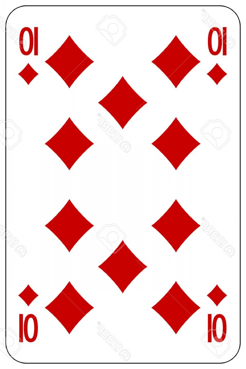 10 Playing Card Vector: Photostock Vector Poker Playing Card Diamond