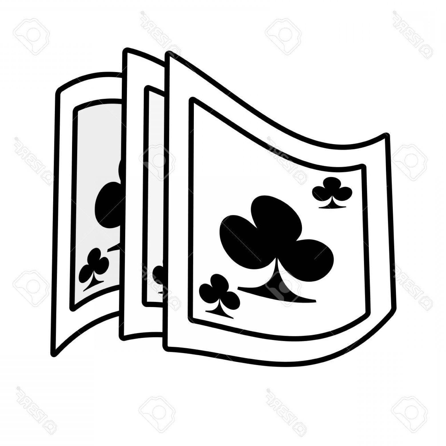 10 Playing Card Vector: Photostock Vector Poker Playing Card Magician Outline Vector Illustration Eps