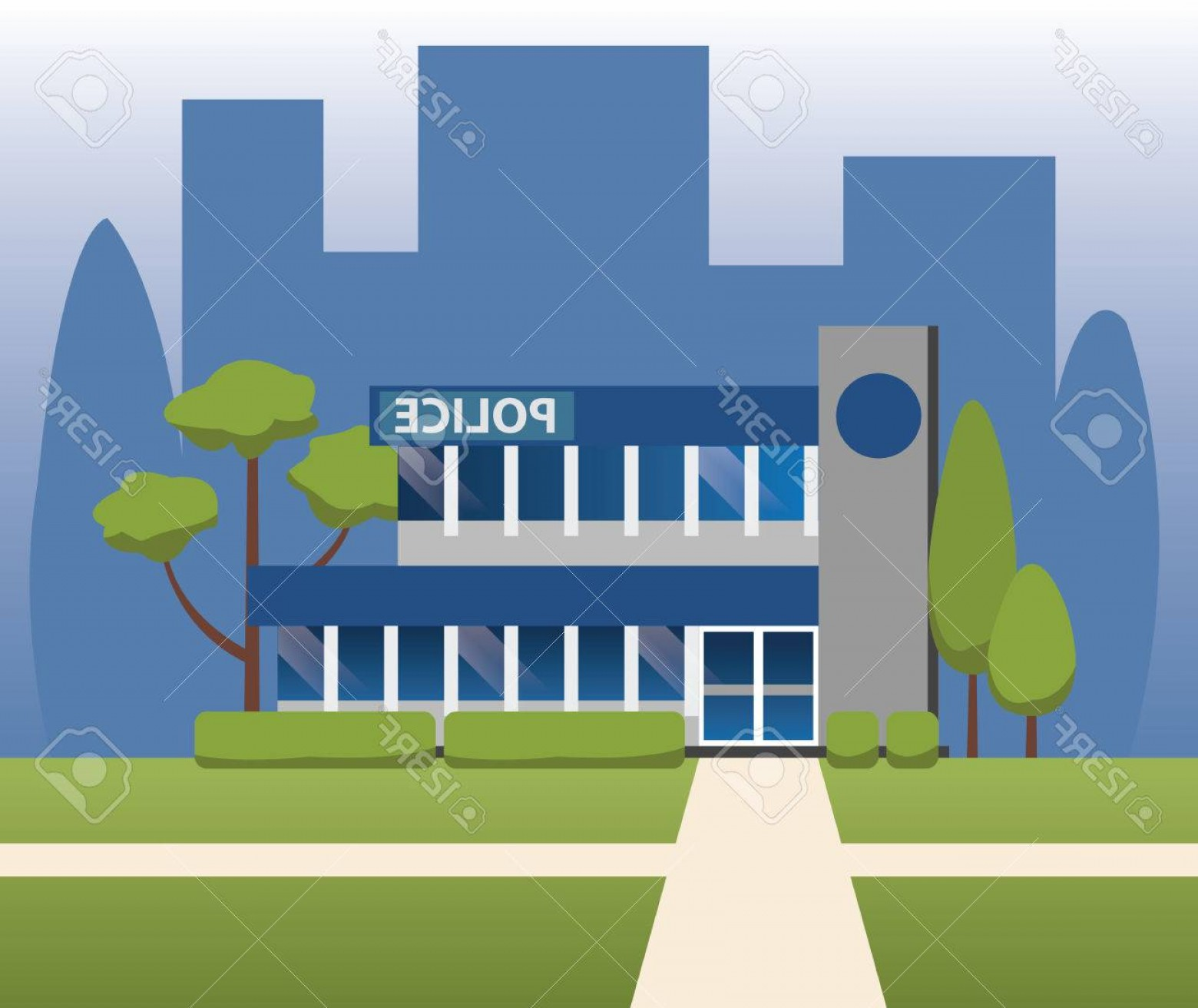 Vector Police Department: Photostock Vector Police Station Department Building Vector Design
