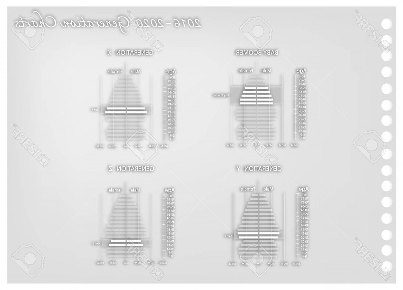 Vector X-15 Art: Photostock Vector Population And Demography Illustration Paper Art Craft Of Population Pyramids Chart Or Age Structure