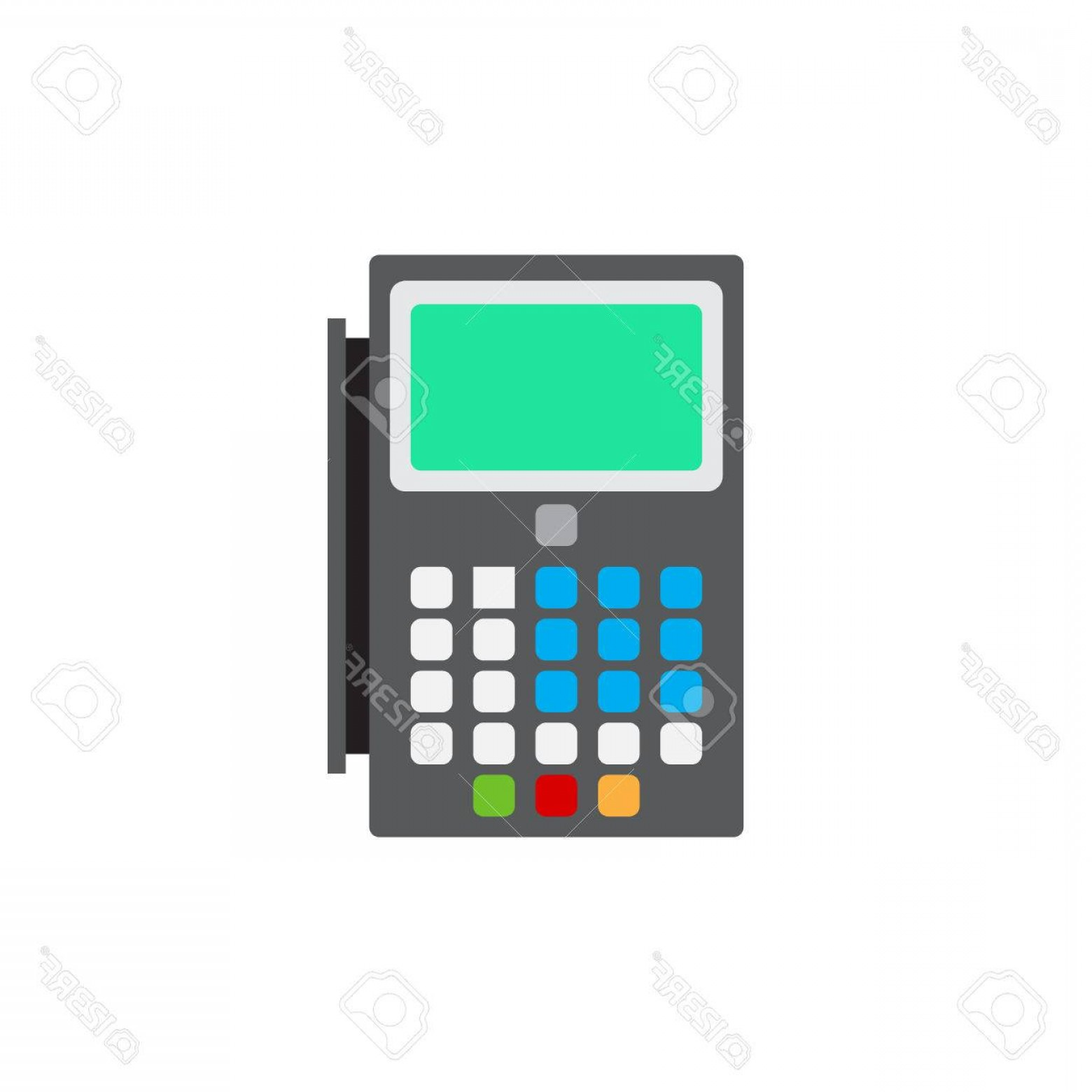 Point Of Sale Icon Vector: Photostock Vector Pos Terminal Flat Icon Vector Sign Colorful Pictogram Isolated On White Point Of Sale Symbol Logo Il