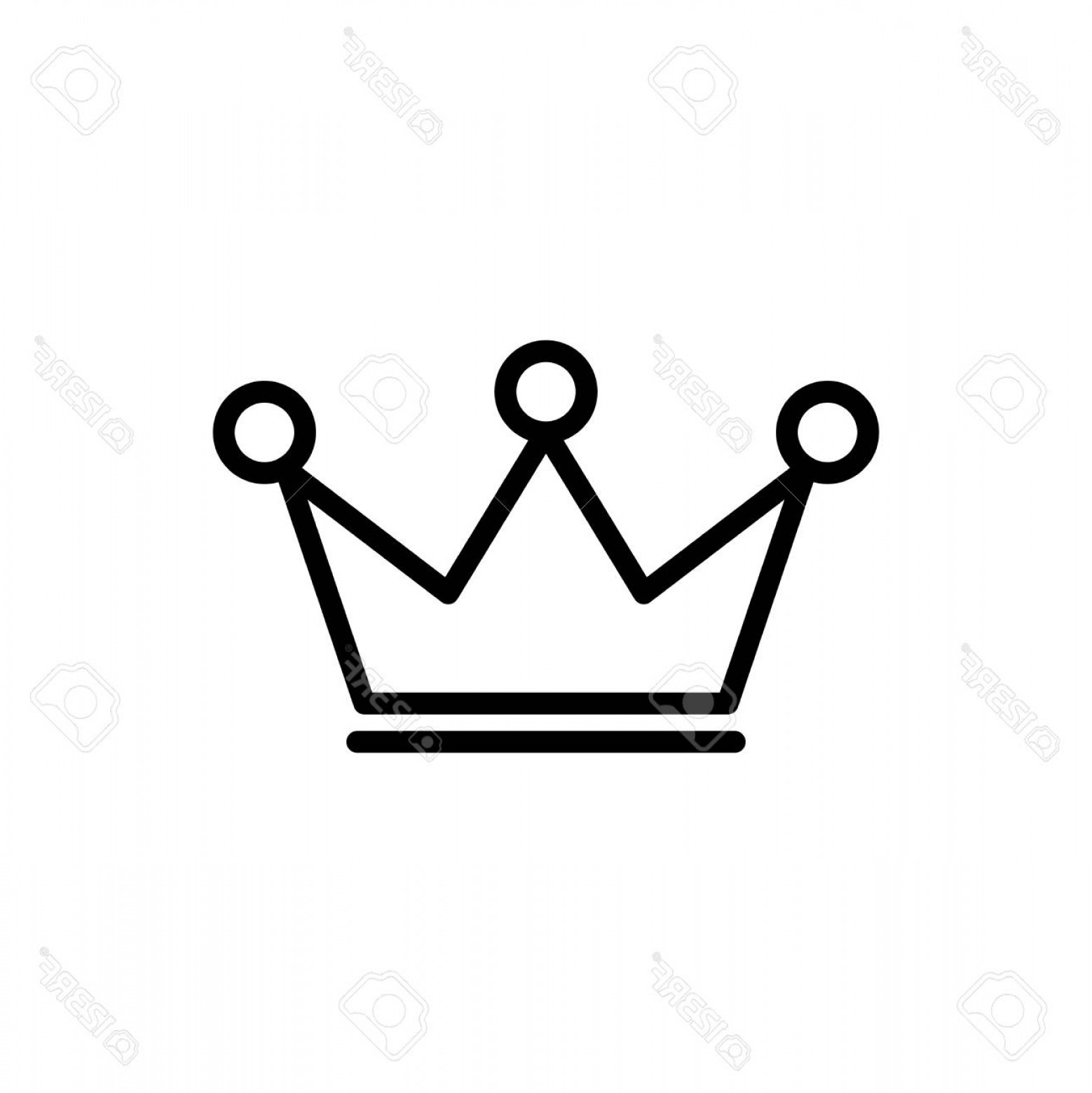 Crown White Outline Vector: Photostock Vector Premium Award Icon Crown Or In Line Style High Quality Sign And Symbol On A White Outline Pictogram