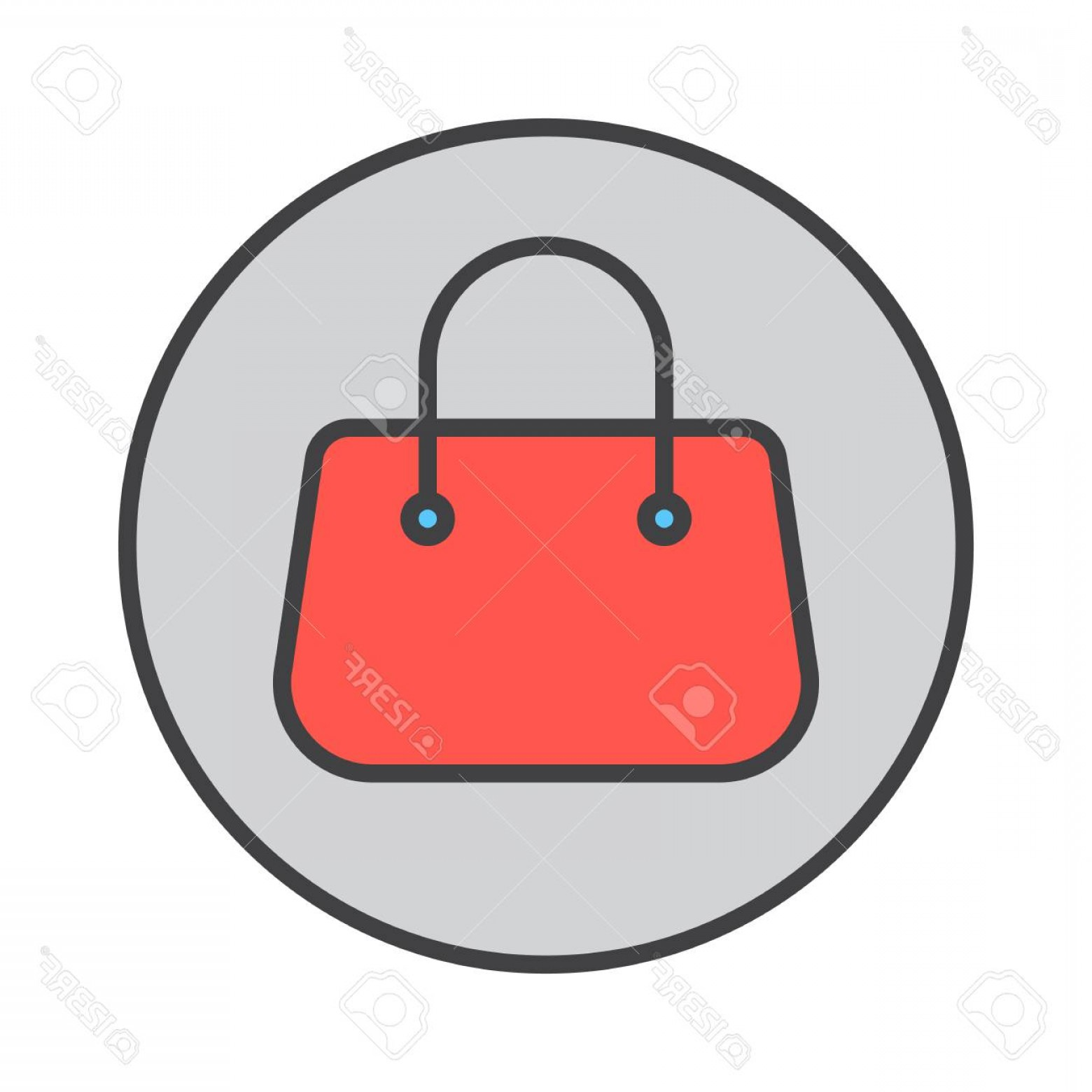 Purse Vector Art: Photostock Vector Purse Handbag Filled Outline Icon Round Colorful Vector Sign Circular Pictogram Symbol Logo Illustra