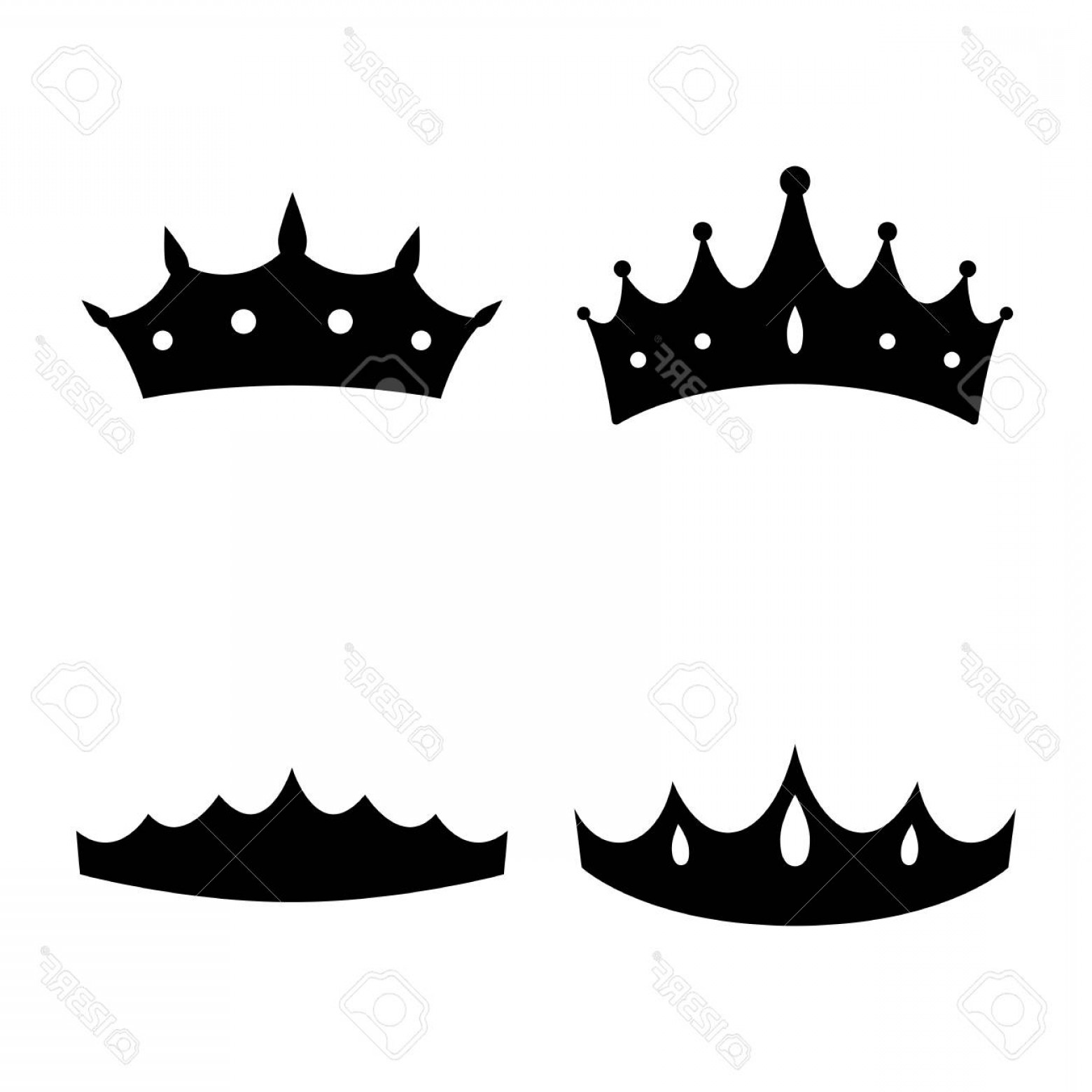 Princess Crown Vector Graphic: Photostock Vector Queen Crown Diadem Princess Crown Icons Vector Illustration Silhouettes Flat Style