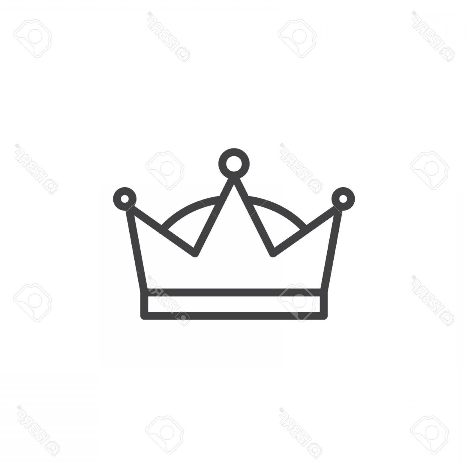 Crown Vector Clip Art: Photostock Vector Queen Crown Icon Outline Sign Linear Style Clip Art Design Illustration