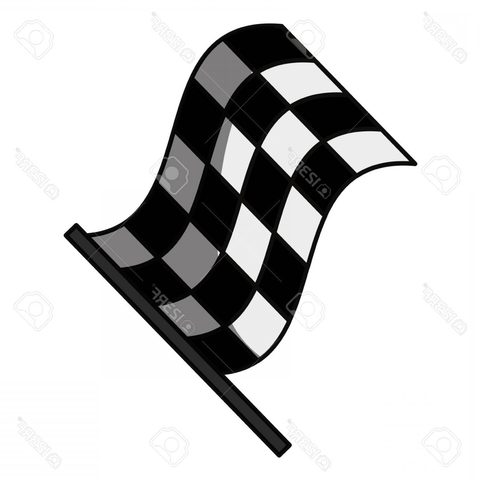 Black And White Vector Racing Graphics: Photostock Vector Racing Flas Isolated Icon Vector Illustration Graphic Design