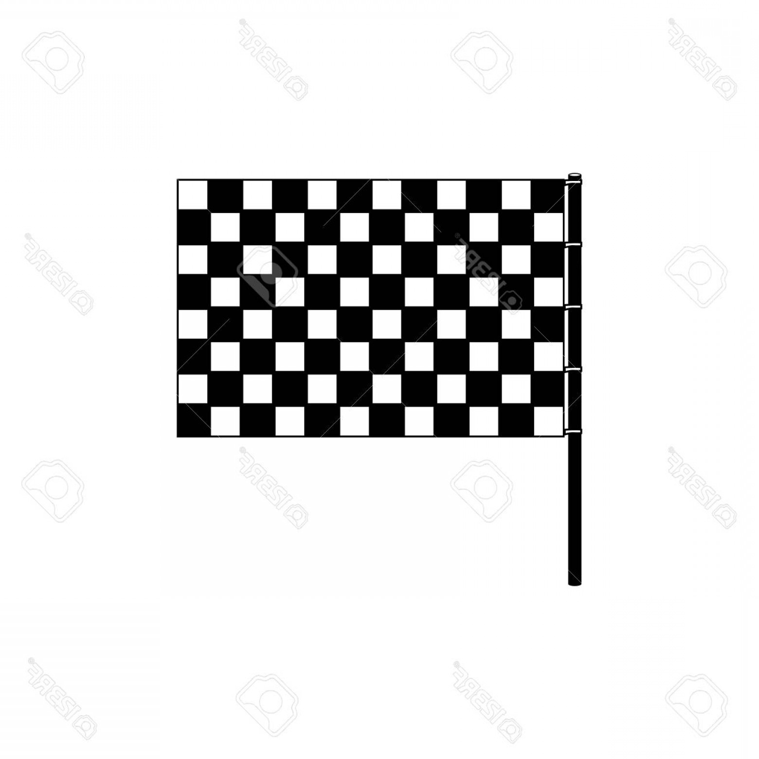 Black And White Vector Racing Graphics: Photostock Vector Racing Motorsport Symbol Icon Vector Illustration Graphic