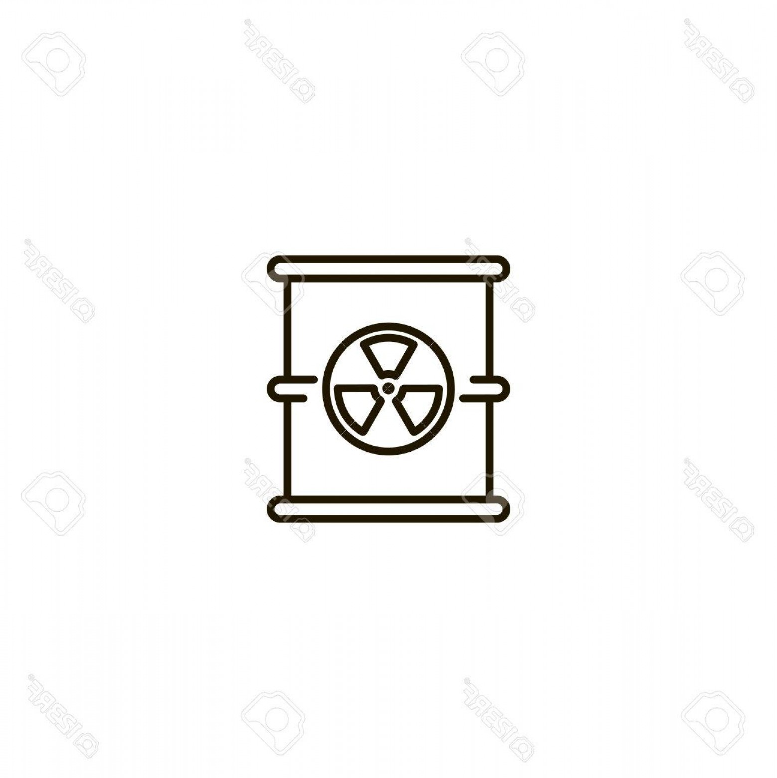 Radioactive Symbol Vector: Photostock Vector Radiation Flat Icon Single High Quality Symbol Of Line Radioactive Vector For Web Design Or Mobile A