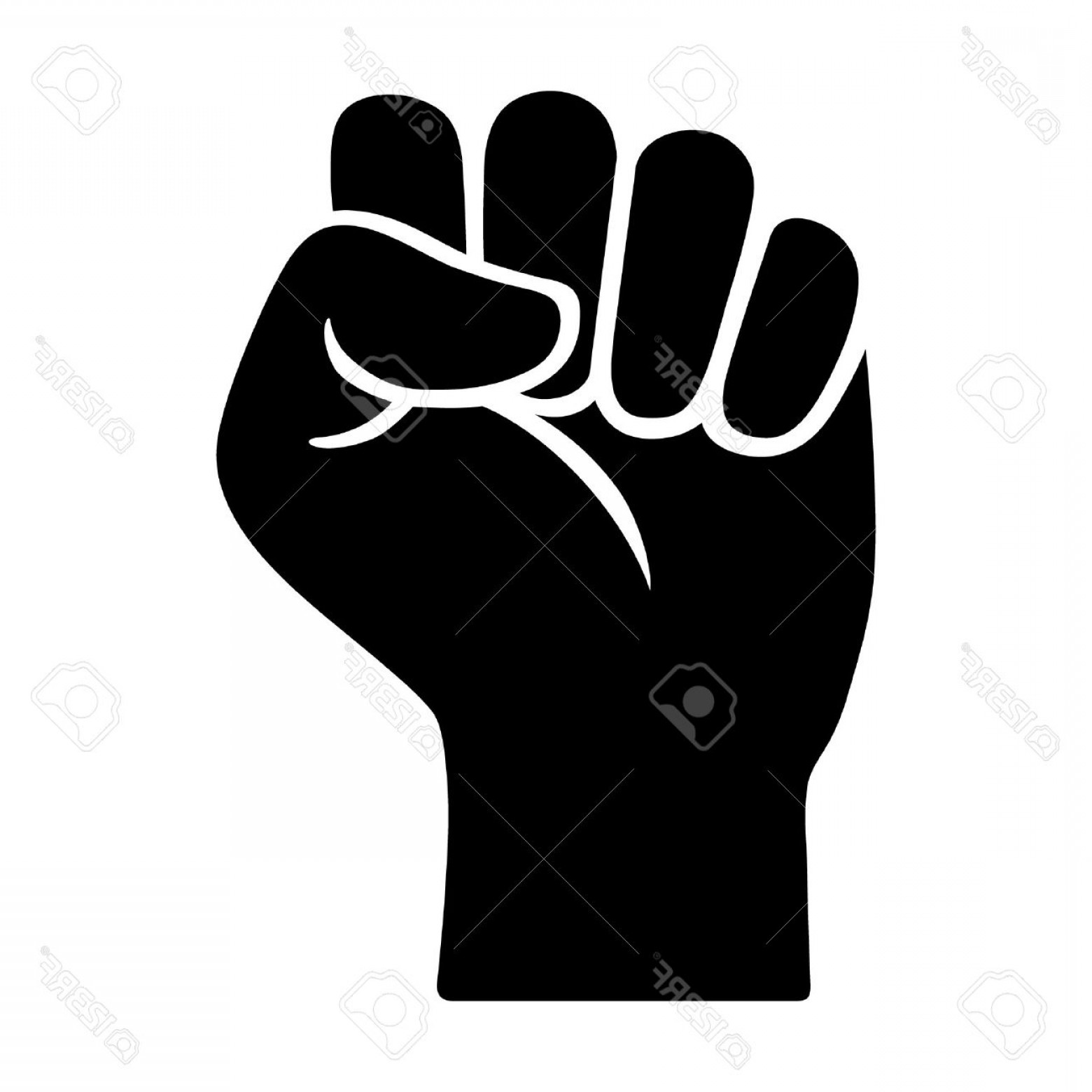 Black Power Fist Vector: Photostock Vector Raised Fist Symbol Of Victory Strength Power And Solidarity Flat Icon For Apps And Websites
