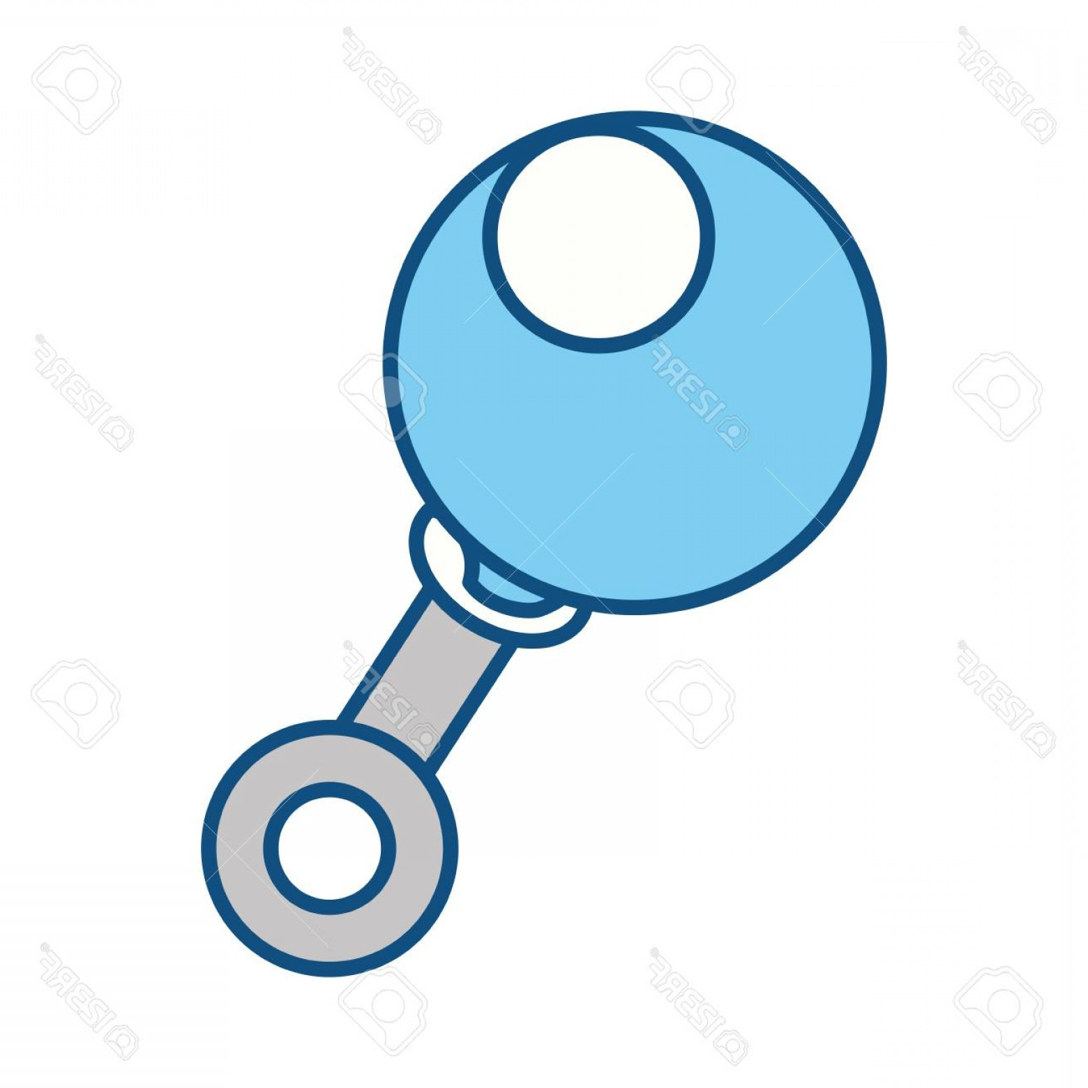 Baby Toy Vector: Photostock Vector Rattle Baby Toy Icon Vector Illustration Graphic Design