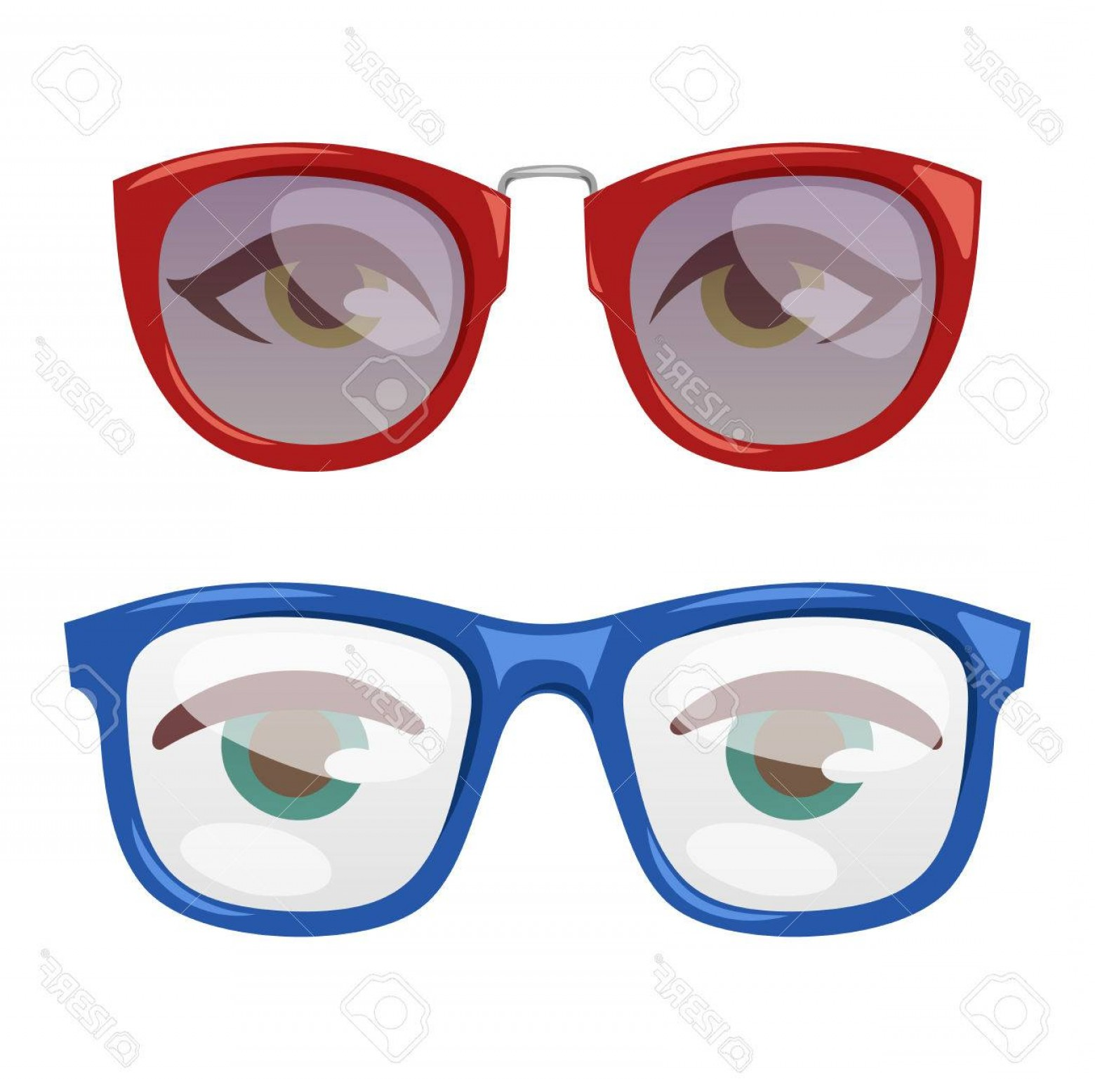 Reading Glasses For Men Vector: Photostock Vector Reading Glasses Human Eye Eyesight Equipment Glasses Human Eye Silhouette Beauty Eyeball People Acce