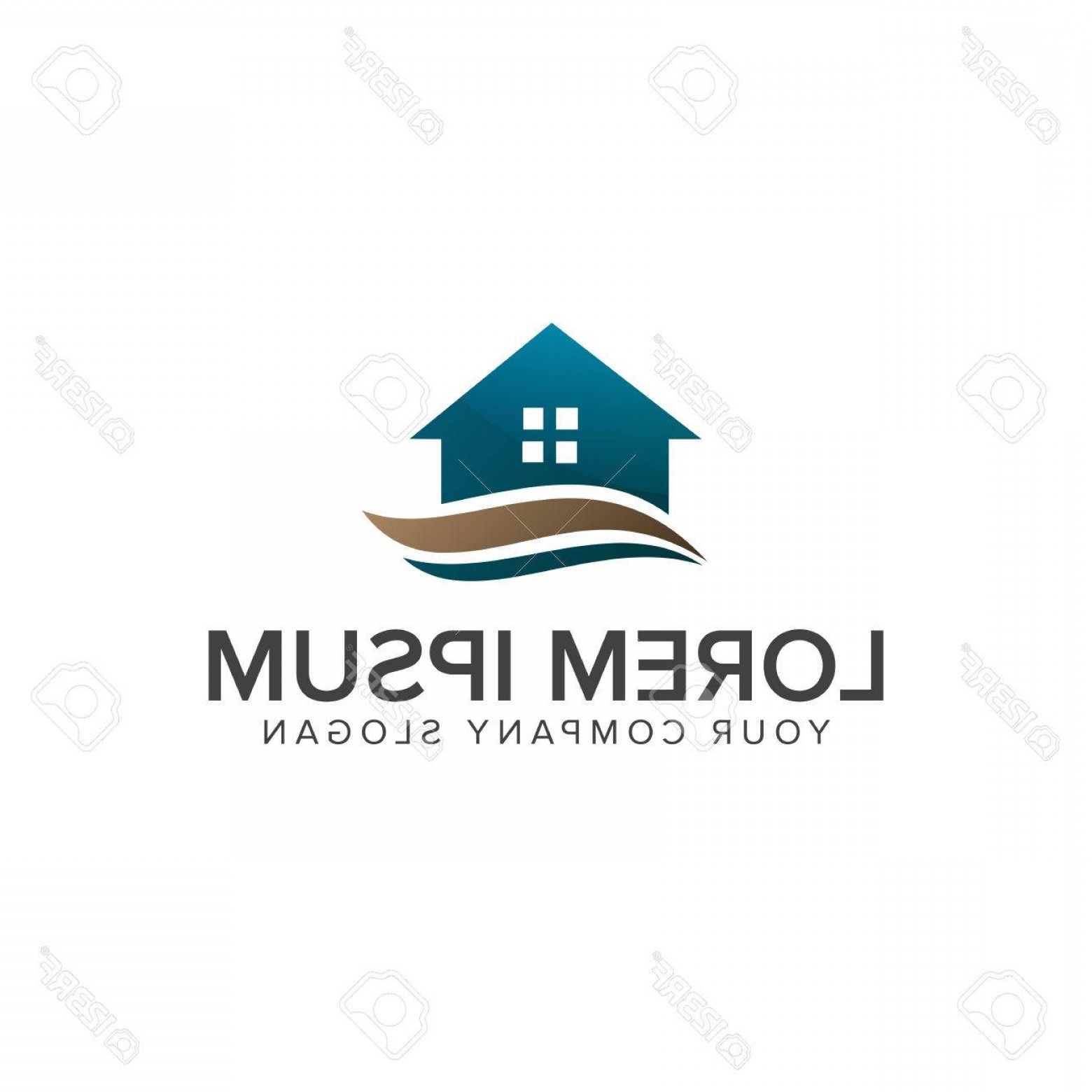 Home Logo Vector: Photostock Vector Real Estate Logo Home Logo House Logo Property Logo Vector Logo Template
