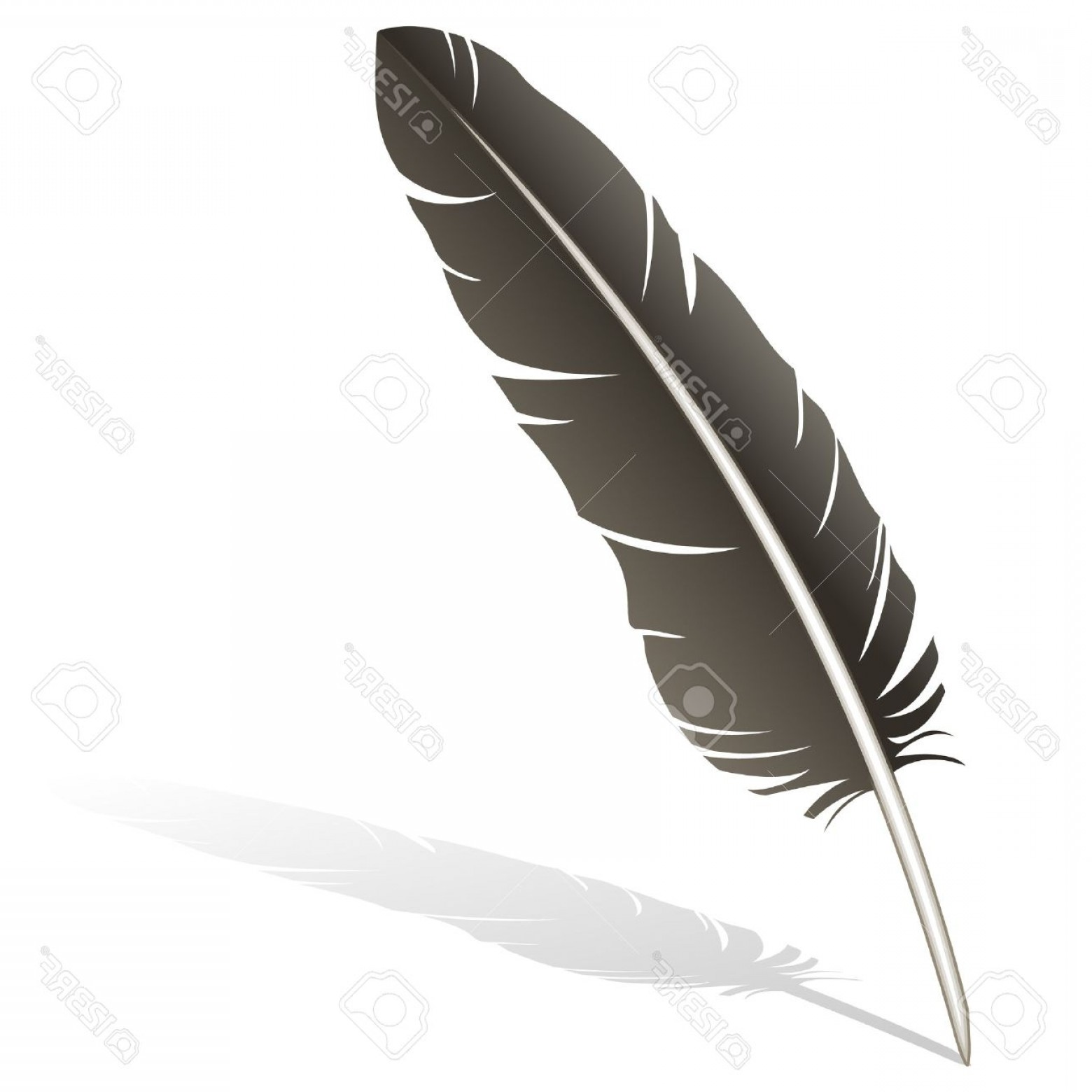Quill Pen Vector: Photostock Vector Realistic Illustration Of A Feather Quill Pen