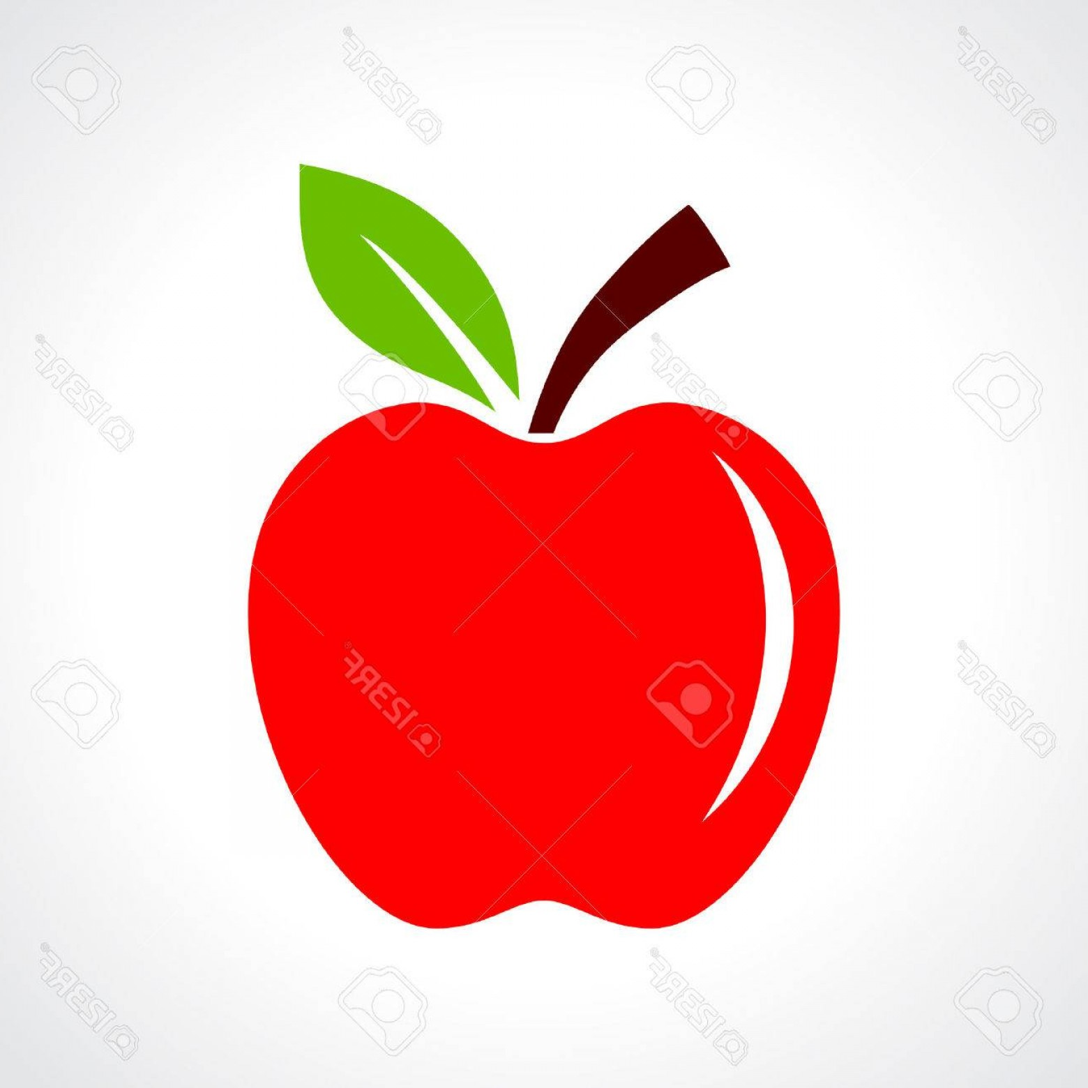 Red Apple Vector Logo: Photostock Vector Red Apple Vector Illustration