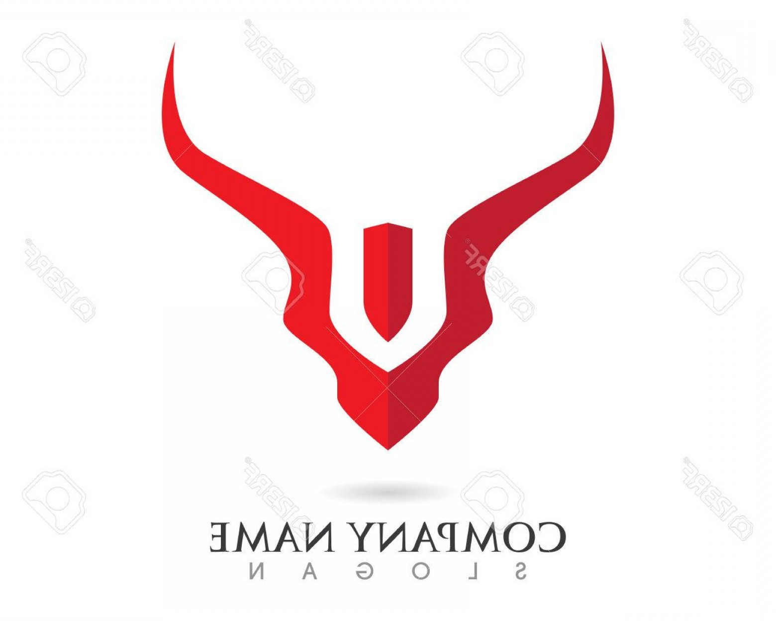 Taurus Vector: Photostock Vector Red Bull Taurus Logo Template Vector Icon Illustration