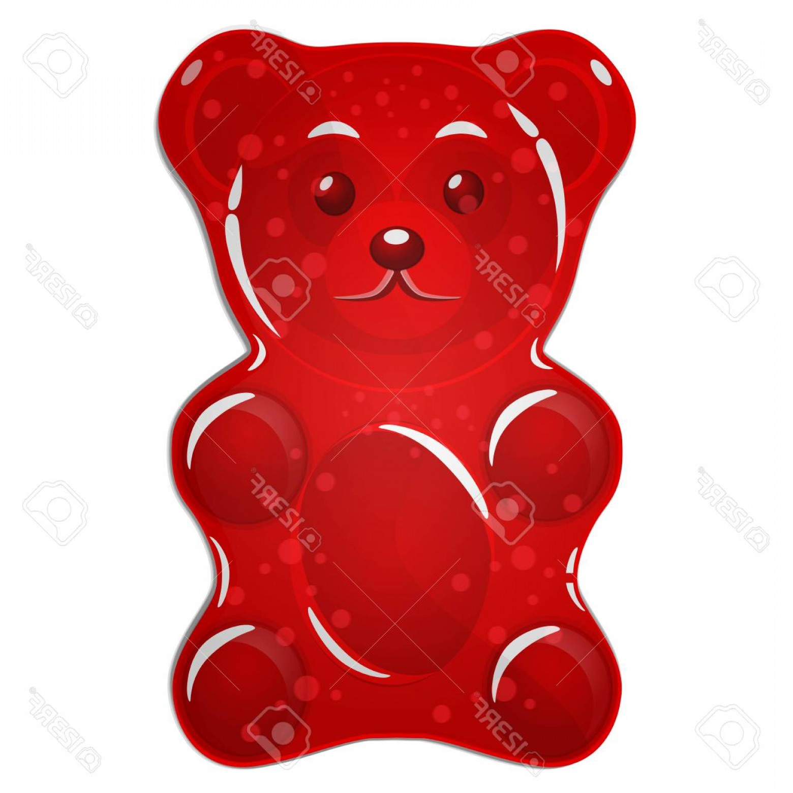 Gummy Bear Vector: Photostock Vector Red Gummy Bear Candy Isolated On White Background