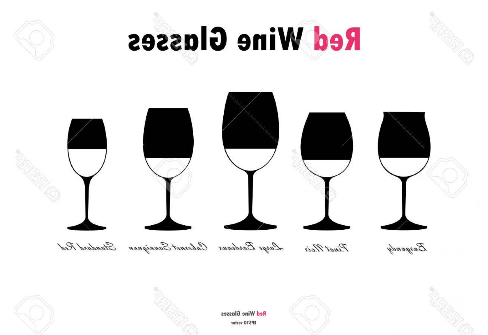 Single Wine Glass Silhouette Vector: Photostock Vector Red Wine Glass Silhouettes Vector Black White On White Background