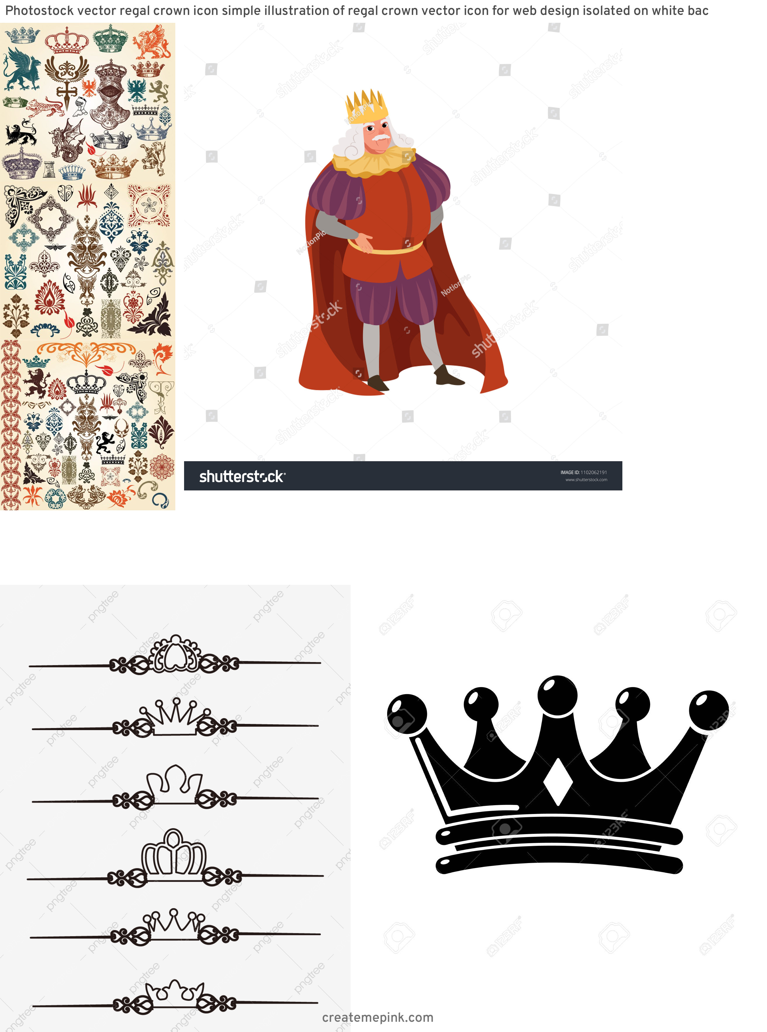 European Crown Vector: Photostock Vector Regal Crown Icon Simple Illustration Of Regal Crown Vector Icon For Web Design Isolated On White Bac
