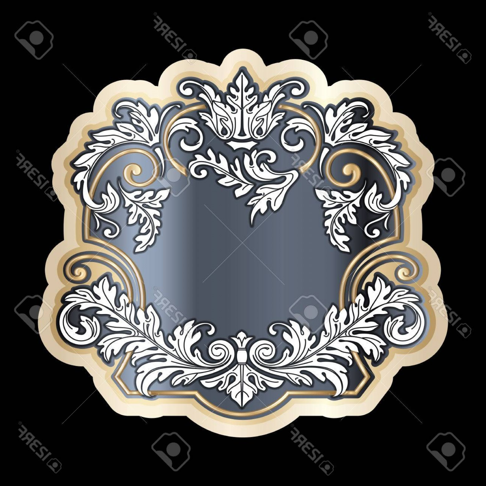 Vector Filigree Heart: Photostock Vector Richly Decorated Vintage Baroque Scroll Design Frame Floral Decoration Retro Style Filigree Vector T
