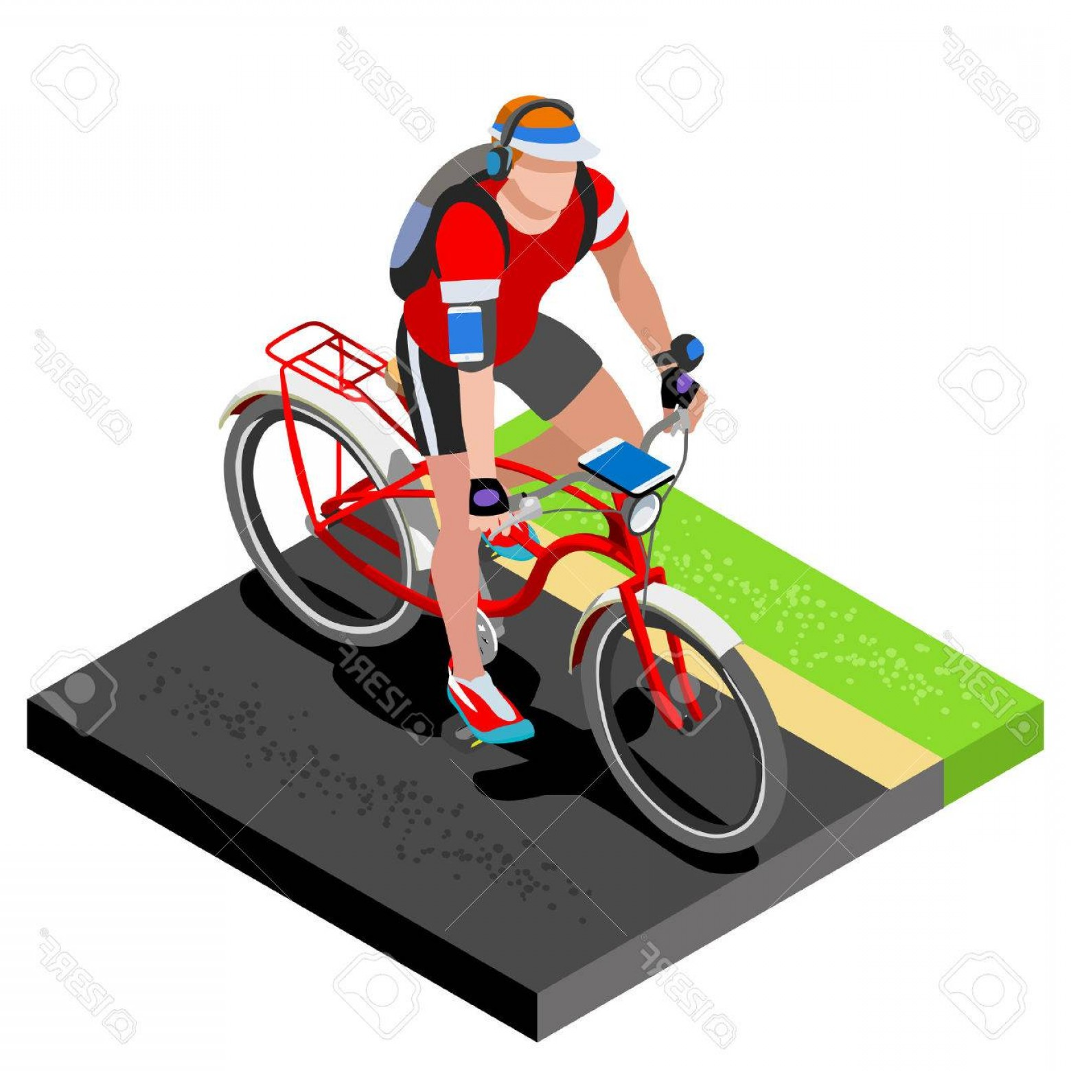 Indoor Cycling Bike Vector: Photostock Vector Road Cycling Cyclist Working Out D Flat Isometric Cyclist On Bicycle Outdoor Working Out Road Cycli