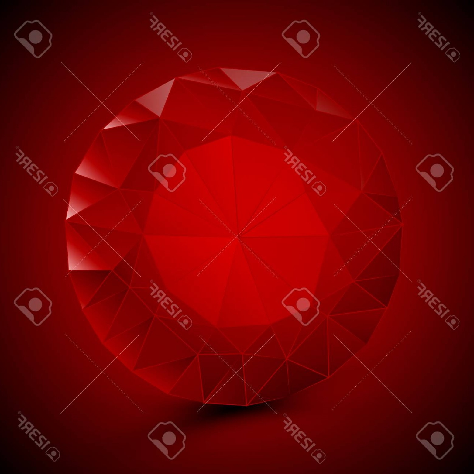 Ruby Royalty Free Vector Graphics: Photostock Vector Round Red Ruby Vector Art Illustration Of A Gem