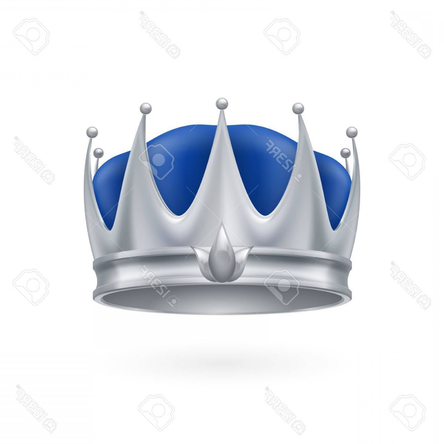 Silver Prince Vector: Photostock Vector Royal Silver Crown Isolated On A White Background For Design