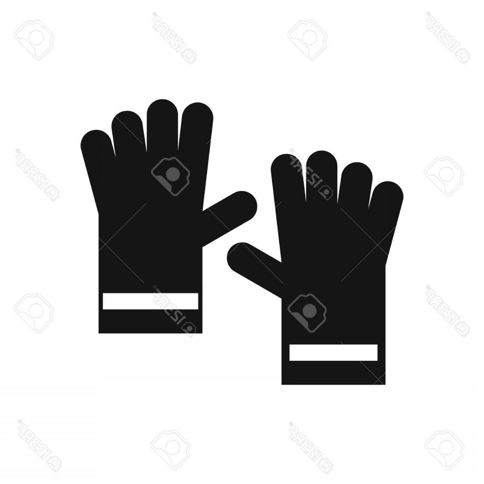White Glove Service Vector: Photostock Vector Rubber Gloves Icon In Simple Style Isolated On White Background Hand Protection Symbol Vector Illust