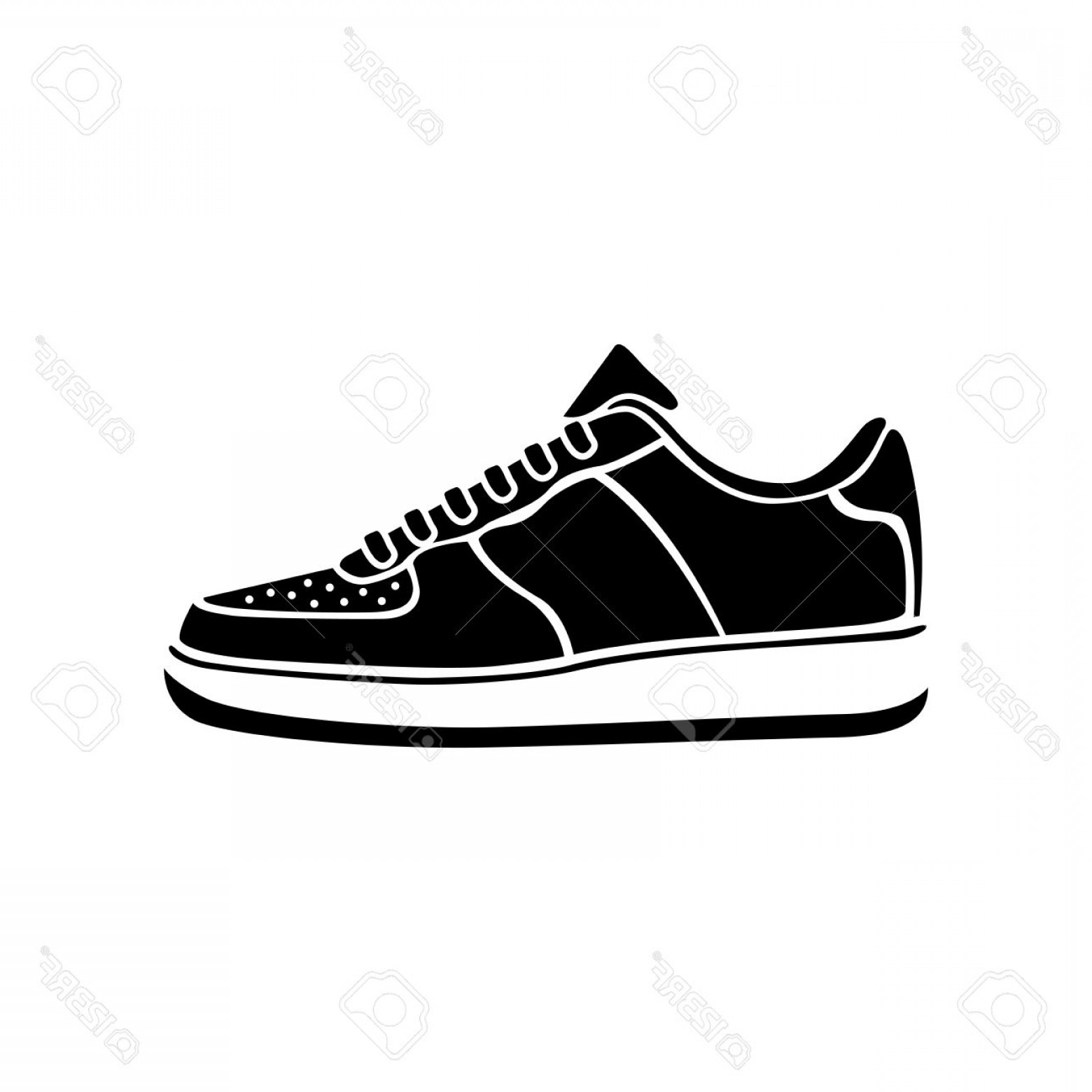 Sneaker Silhouette Vector: Photostock Vector Running Shoe Icon Sneakers Vector Sport Active Icon Symbol