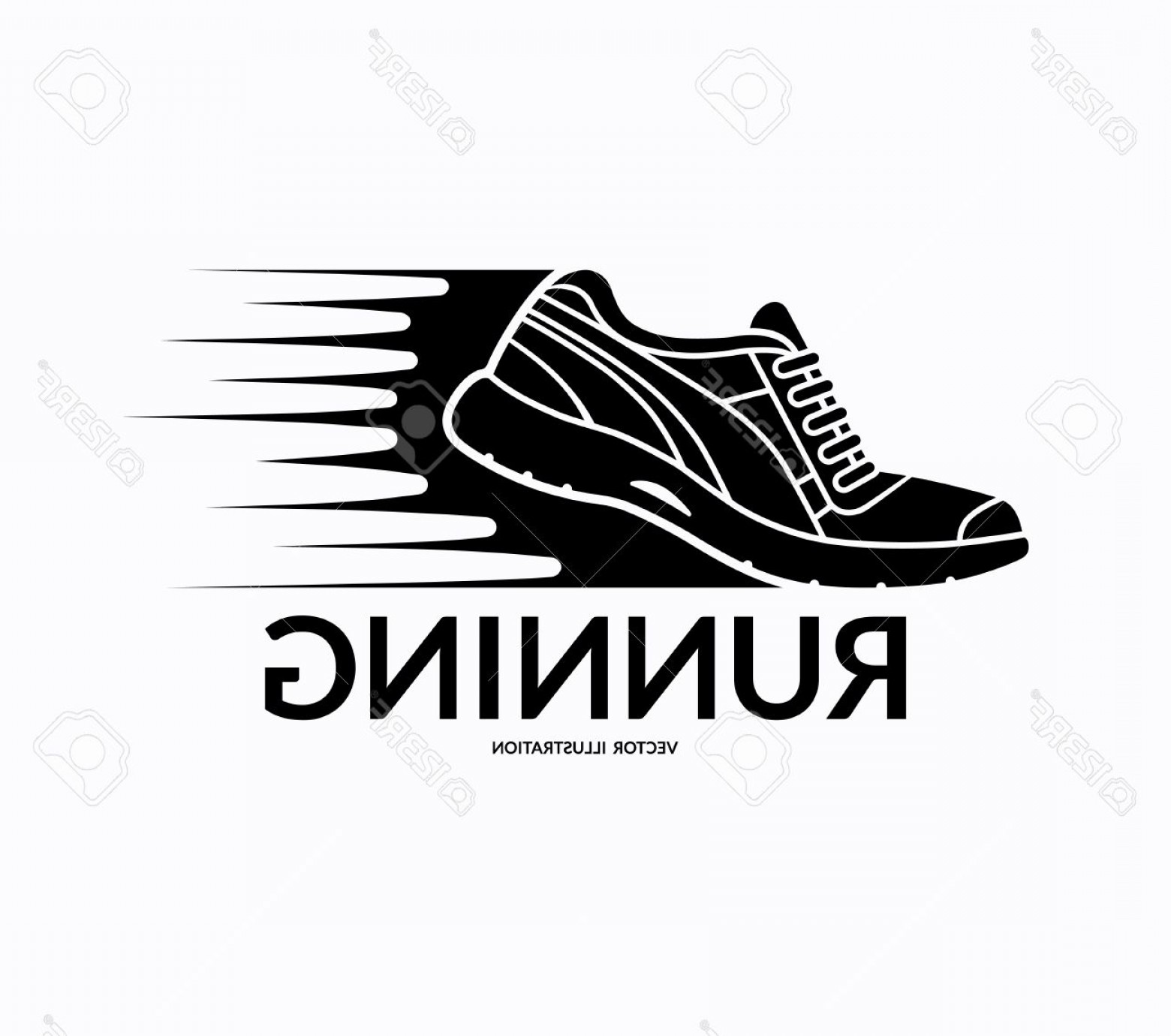 Sneaker Silhouette Vector: Photostock Vector Running Shoe Icon Sports Shoe Symbol Training Shoe Logo Fitness Shoe Sign Sneaker Silhouette With Mo